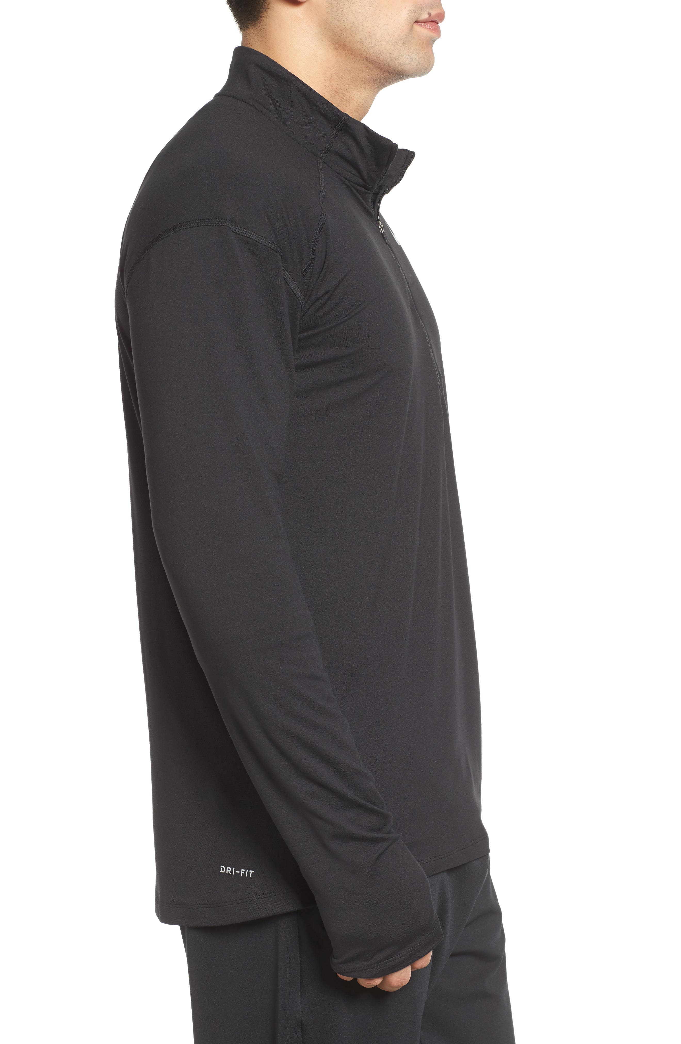 Dry Element Running Top,                             Alternate thumbnail 3, color,                             BLACK