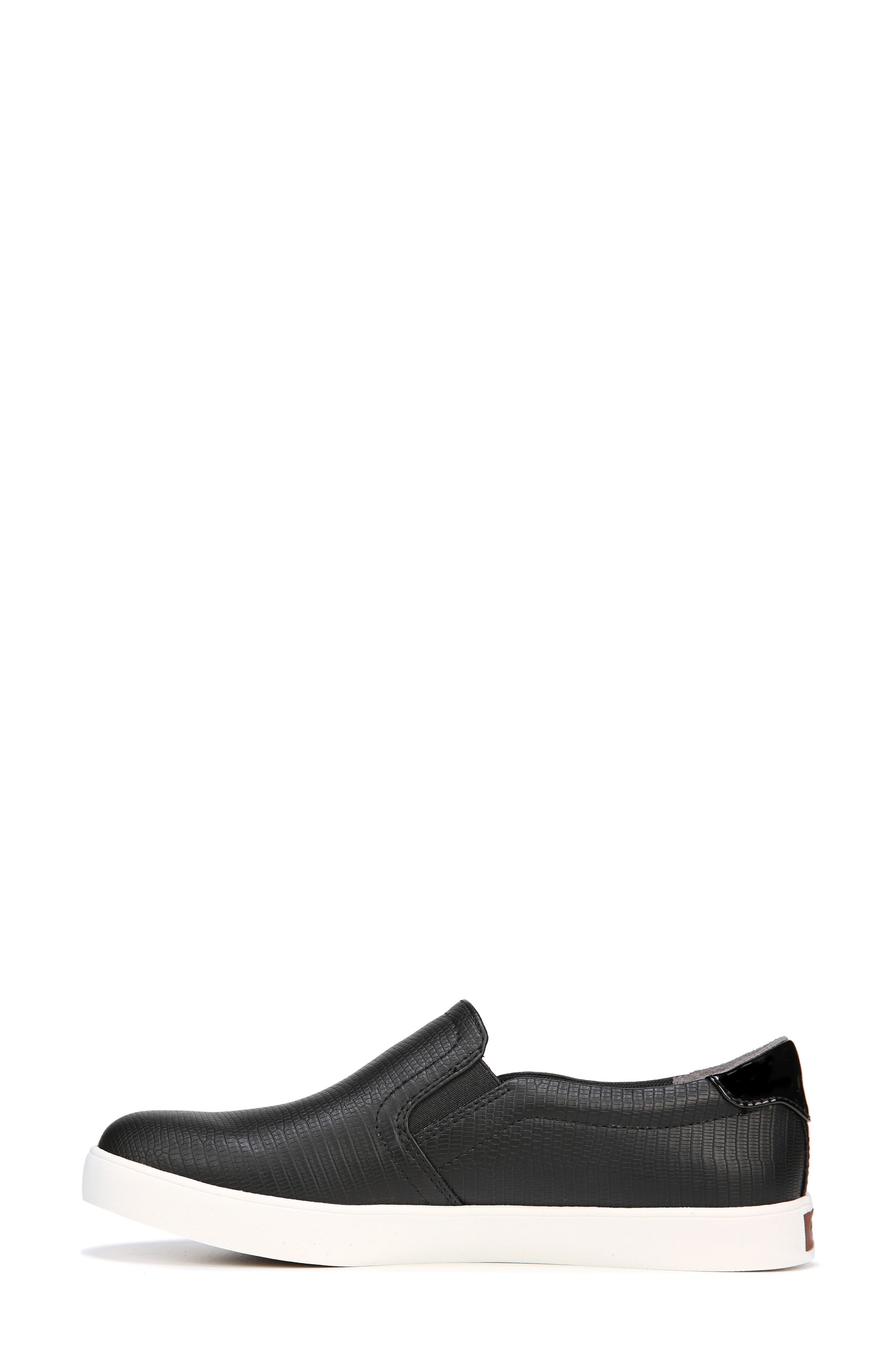 Madison Slip-On Sneaker,                             Alternate thumbnail 8, color,                             BLACK FAUX LEATHER