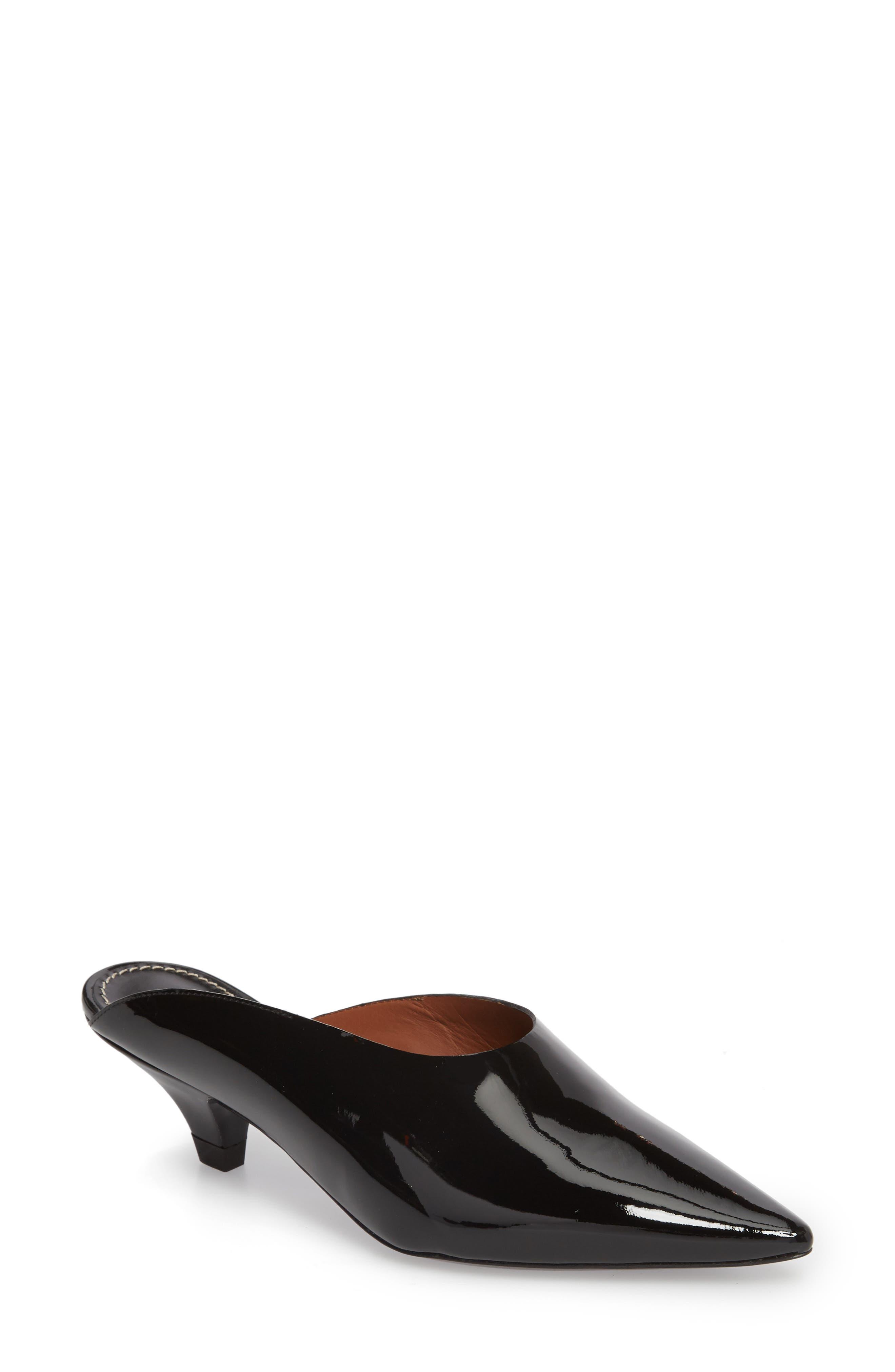 Proenza Schouler Asymmetric Pointy Toe Mule, Black