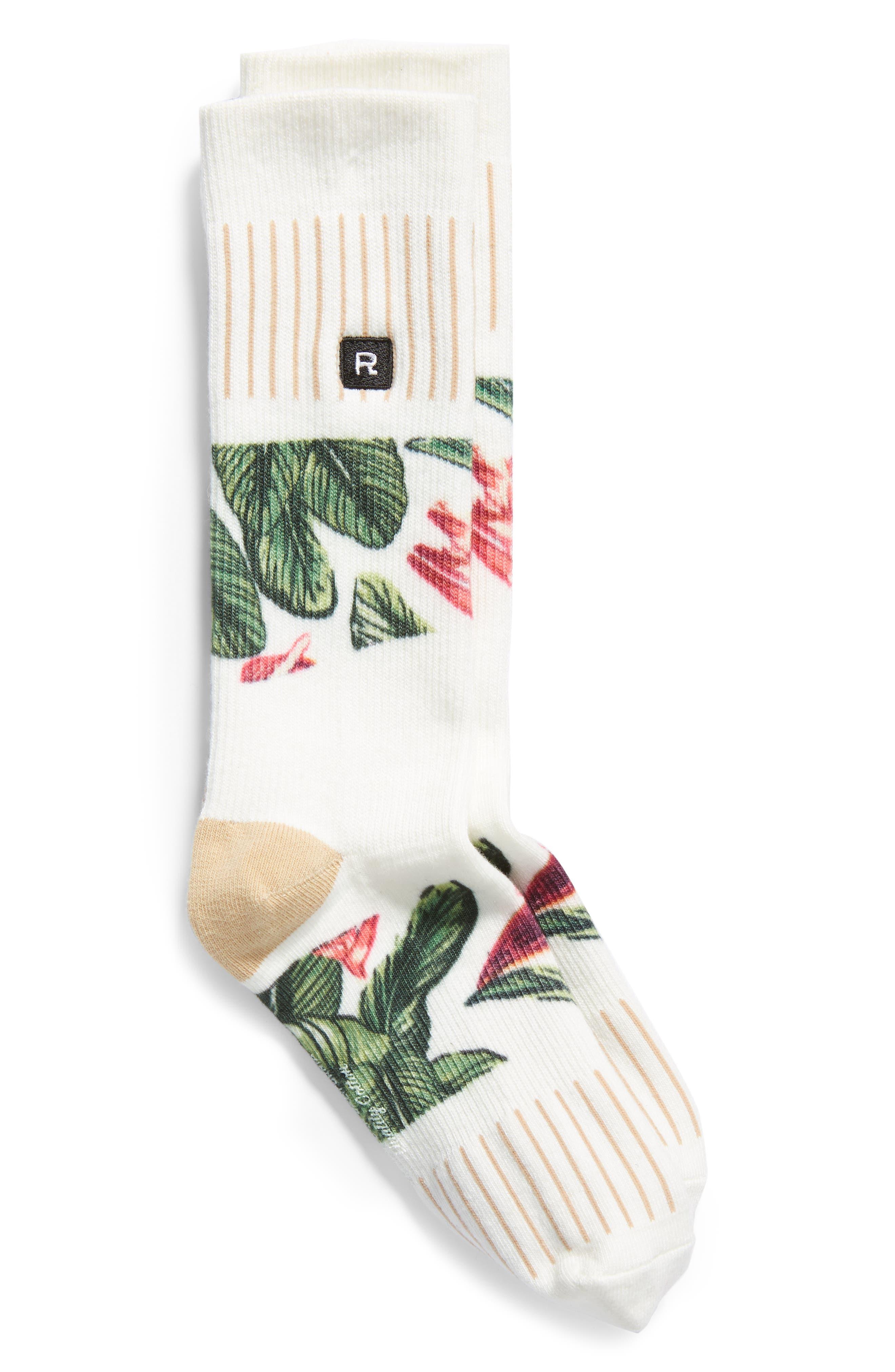 RICHER POORER Malibu Everyday Crew Socks in Ivory