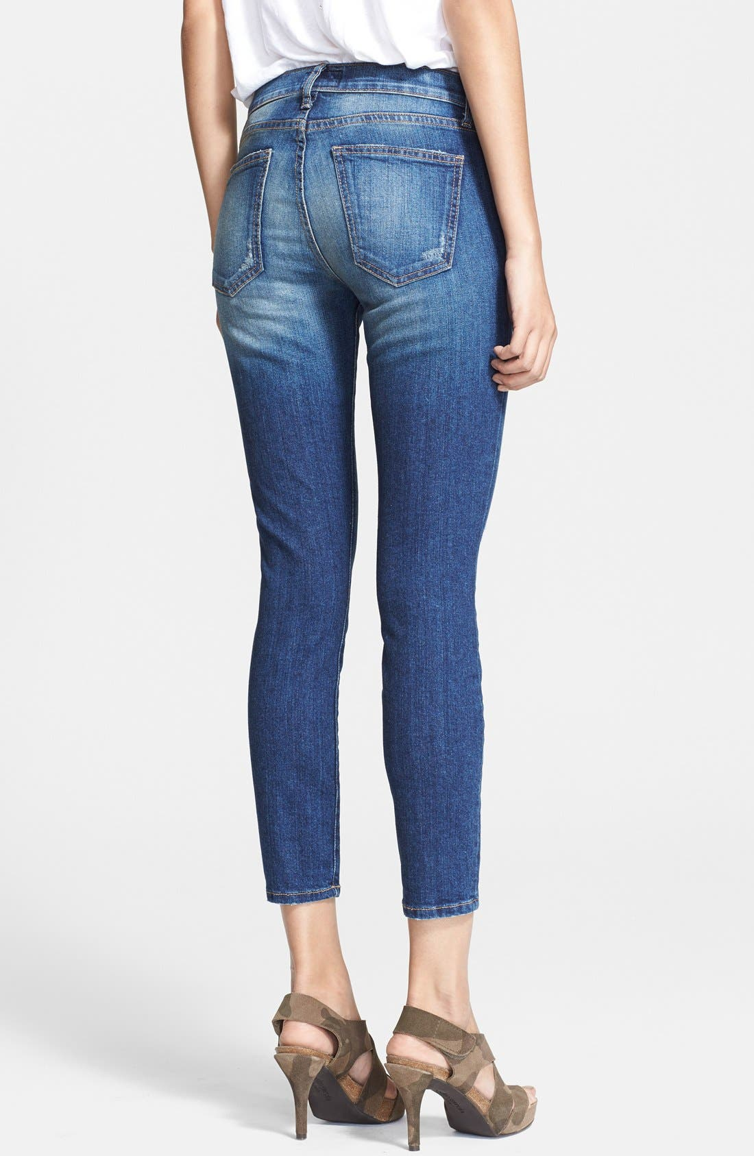 'The Stiletto' Destroyed Skinny Jeans,                             Alternate thumbnail 38, color,
