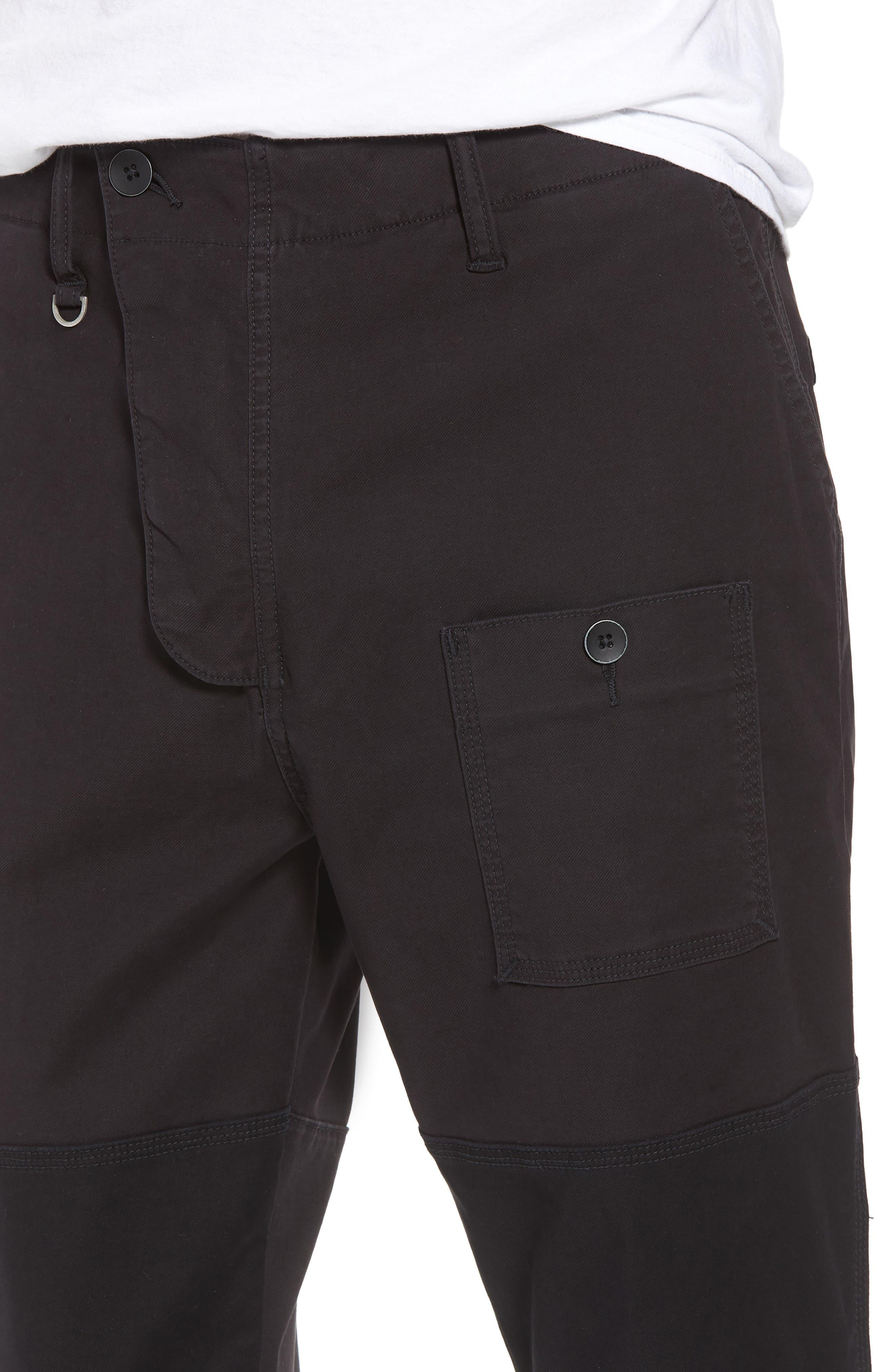 HUDSON JEANS,                             Slouchy Slim Fit Cargo Pants,                             Alternate thumbnail 4, color,                             001
