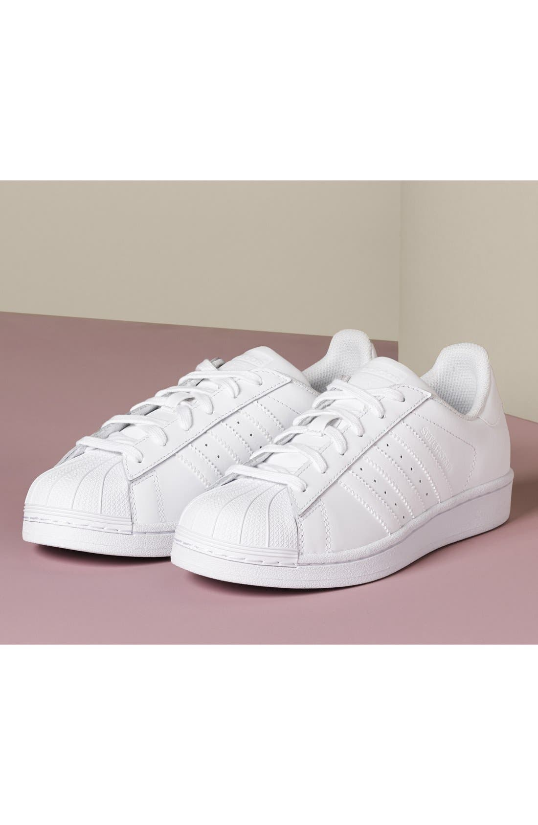 Superstar Sneaker,                             Alternate thumbnail 9, color,                             WHITE/ RED NIGHT/ SILVER