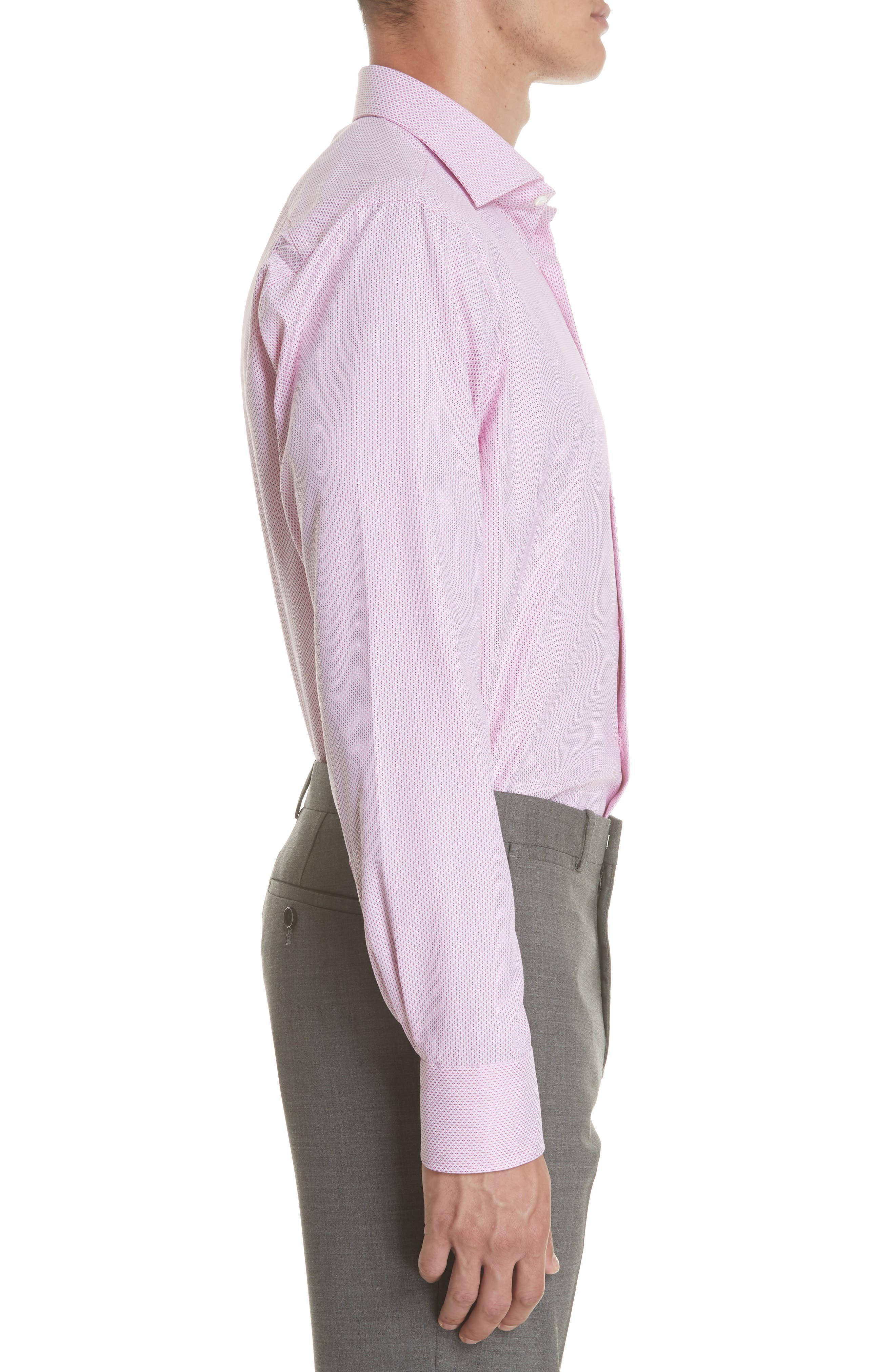 Regular Fit Geometric Print Dress Shirt,                             Alternate thumbnail 4, color,