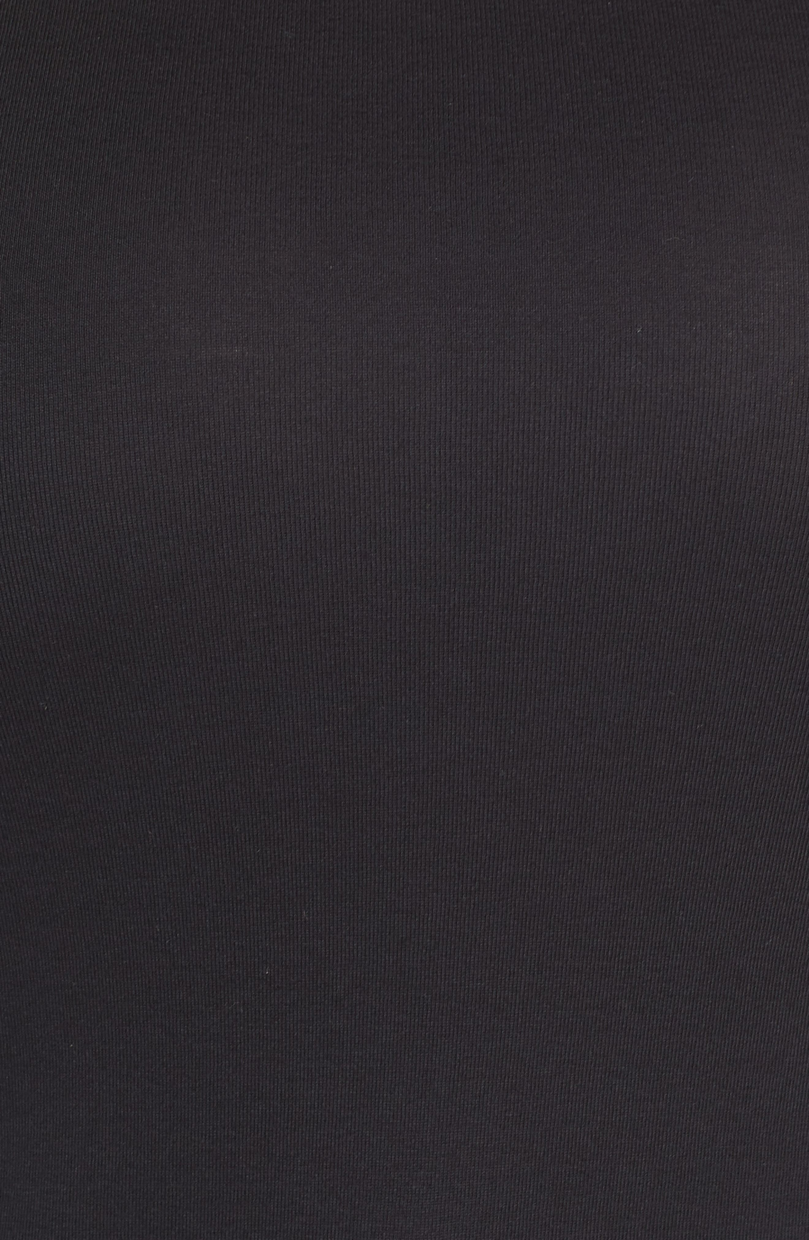 Melody Long Sleeve Scoop Neck Tee,                             Alternate thumbnail 5, color,                             BLACK