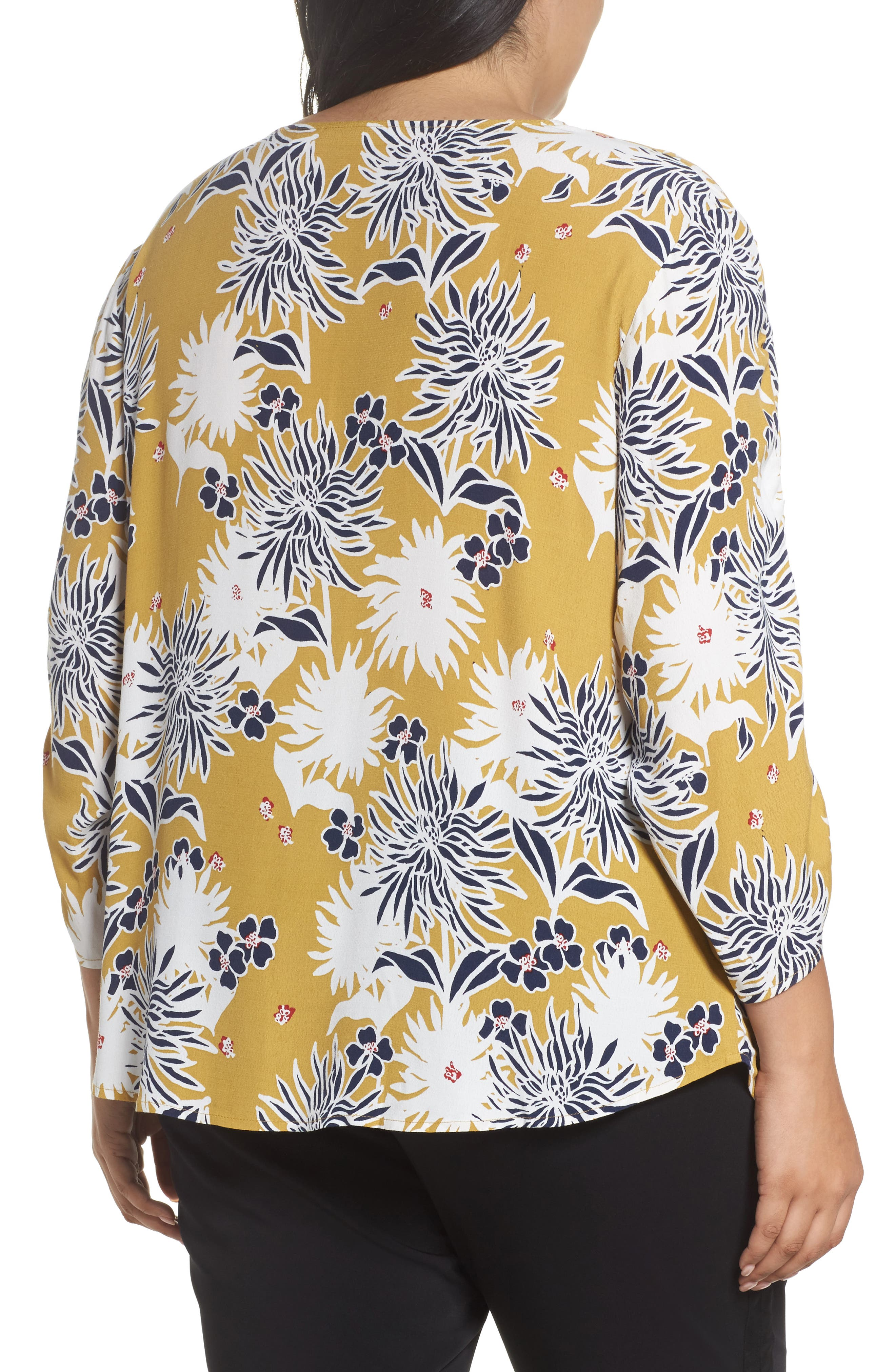 Cinched Sleeve Top,                             Alternate thumbnail 5, color,