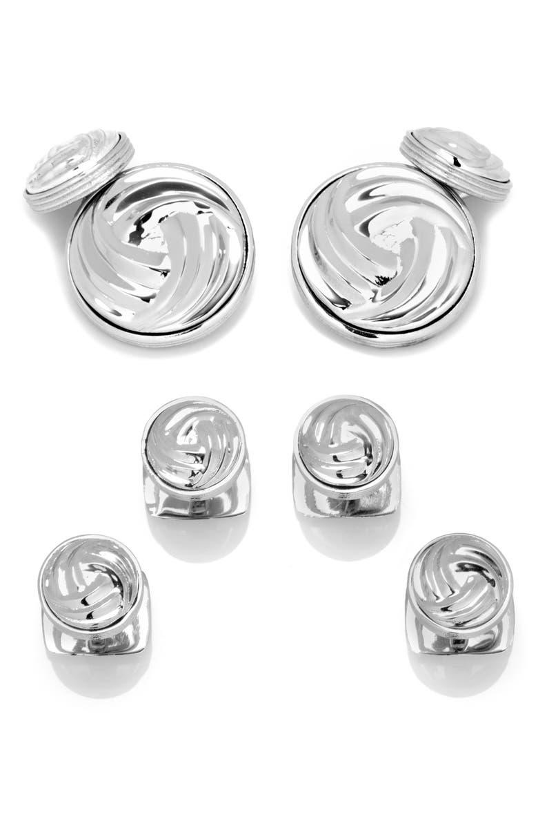 Cufflinks, Inc Bracelets MODERN KNOT CUFF LINK & SHIRT STUD SET