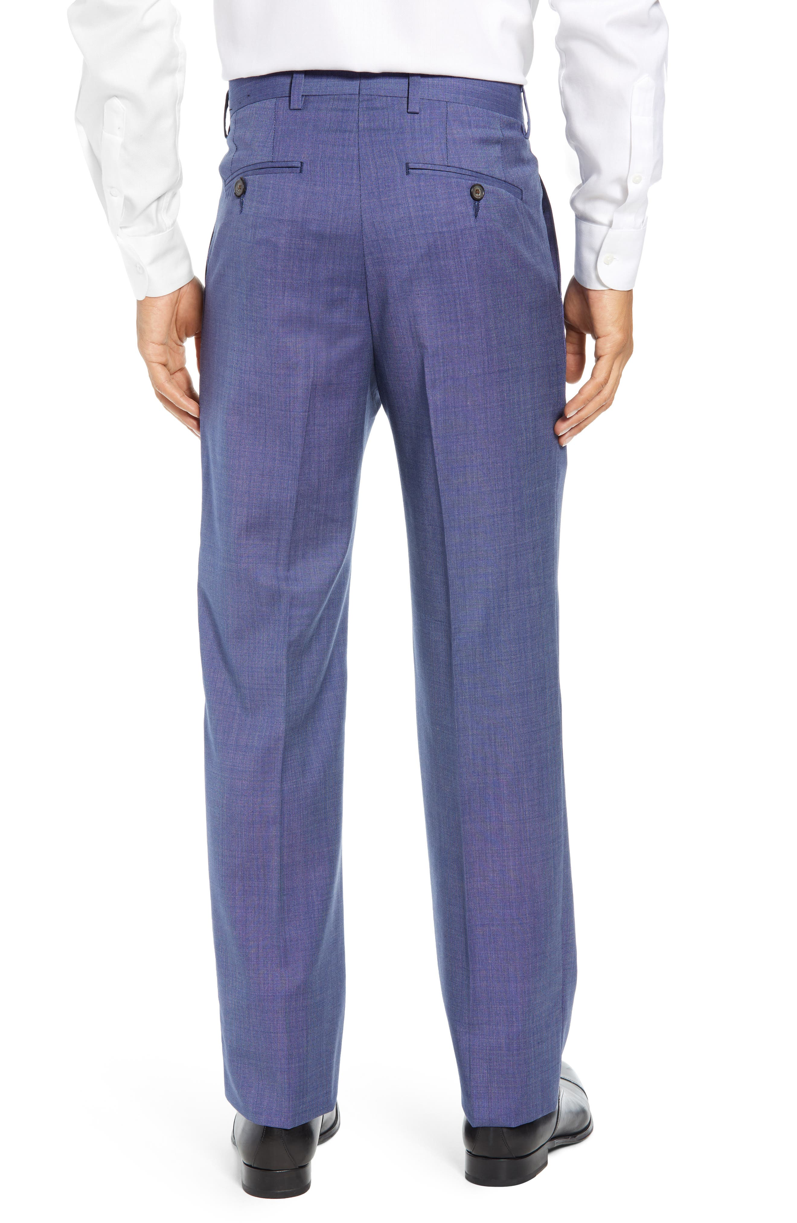 Manufacturing Flat Front Wool Trousers,                             Alternate thumbnail 2, color,                             BLUE