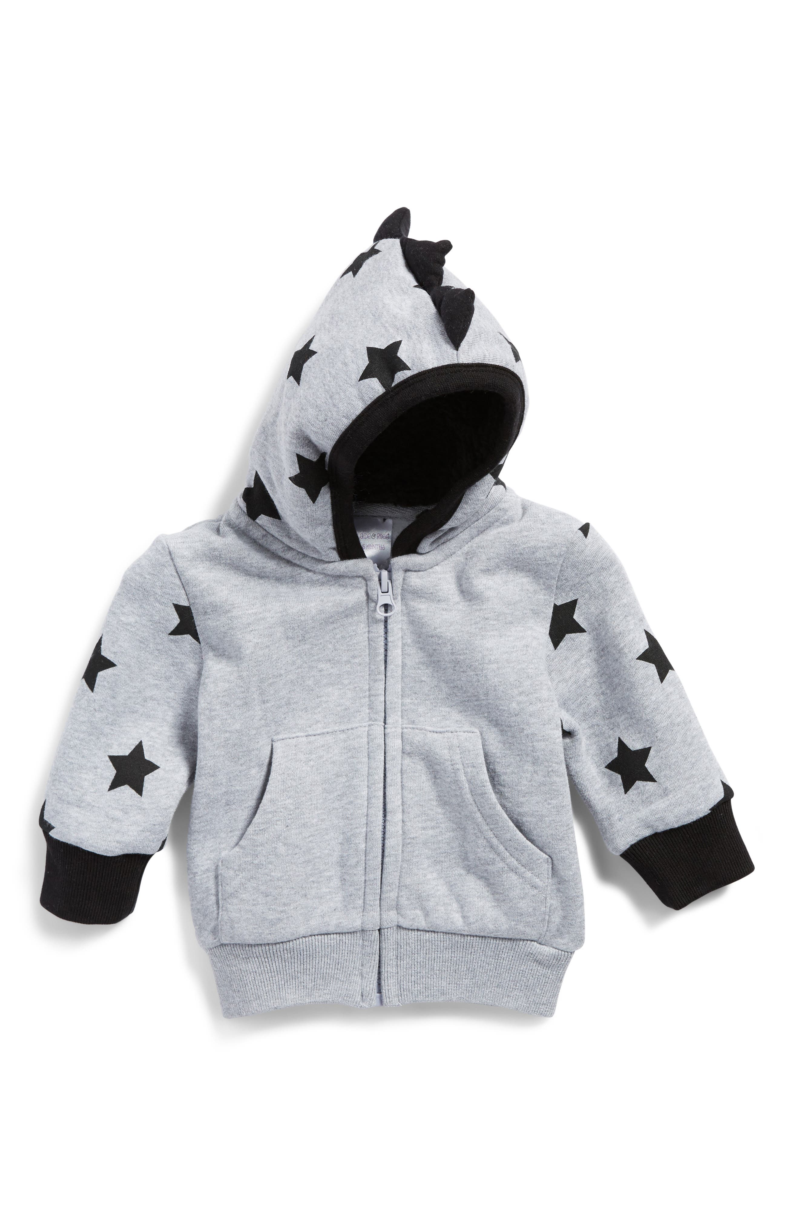 Star Print Hoodie,                             Main thumbnail 1, color,                             030