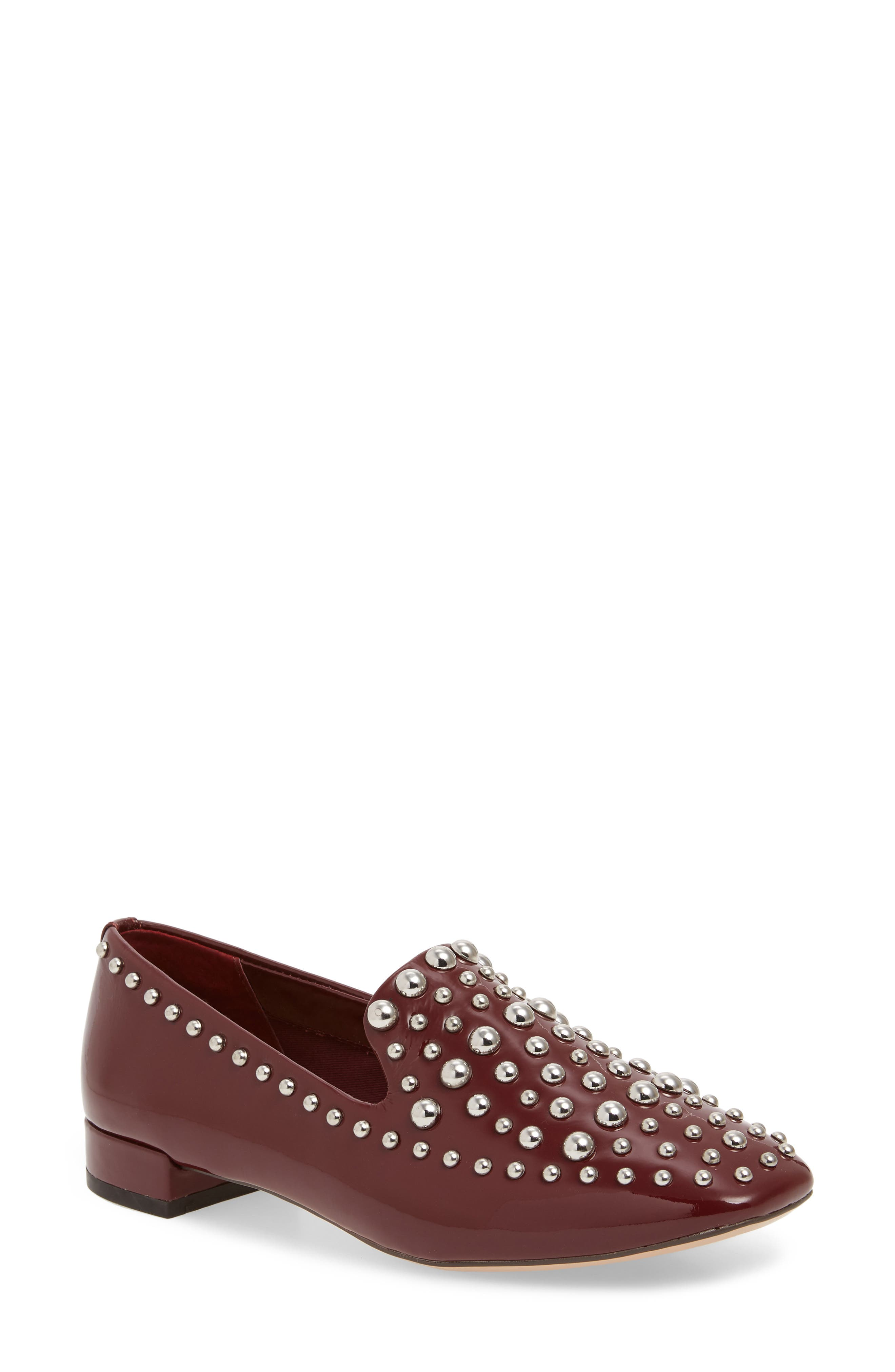 Kaylee Loafer,                             Main thumbnail 1, color,                             BERRY PATENT LEATHER