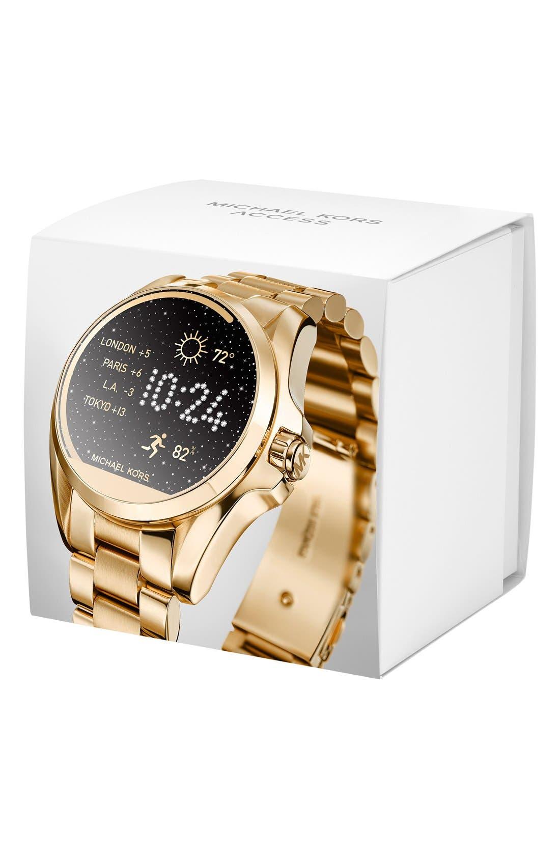 MICHAEL Michael Kors Bradshaw Access Bracelet Smart Watch, 45mm,                             Alternate thumbnail 30, color,