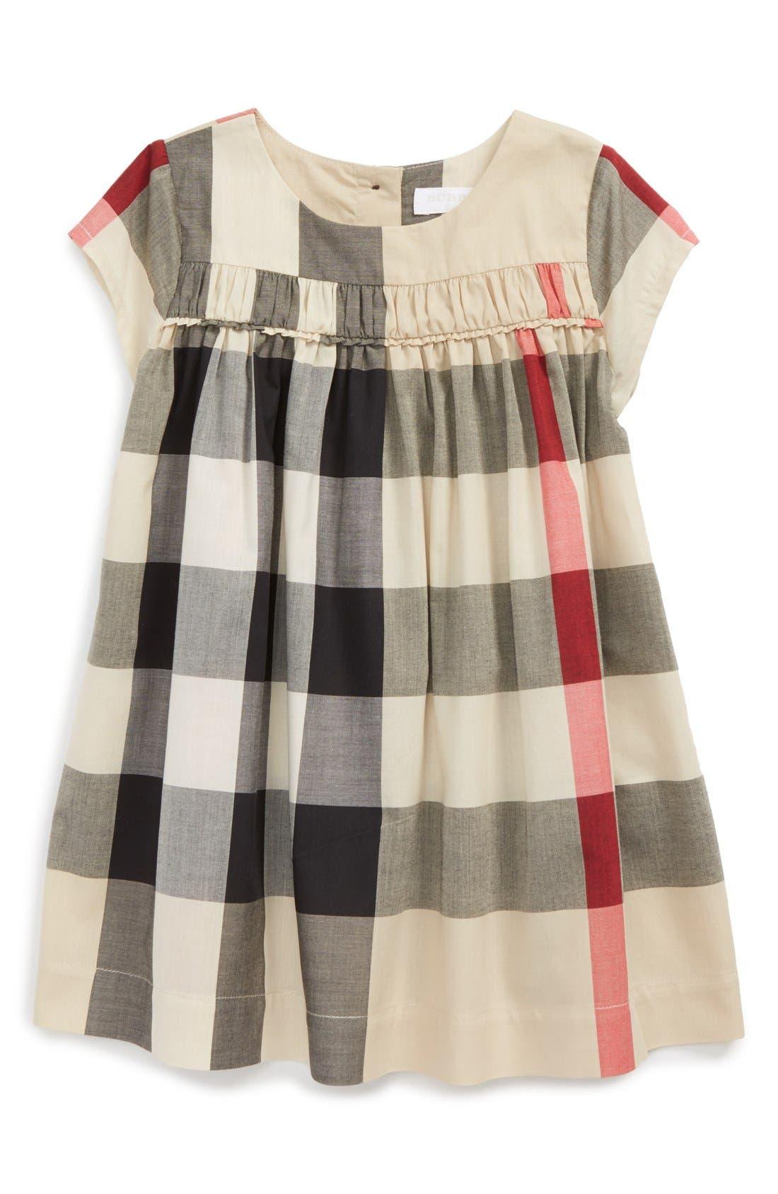 'Ariadne' Check Woven Dress,                         Main,                         color, 272
