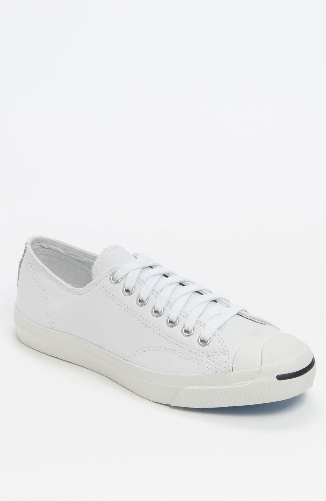 'Jack Purcell' Leather Sneaker,                             Main thumbnail 1, color,                             WHITE/ NAVY