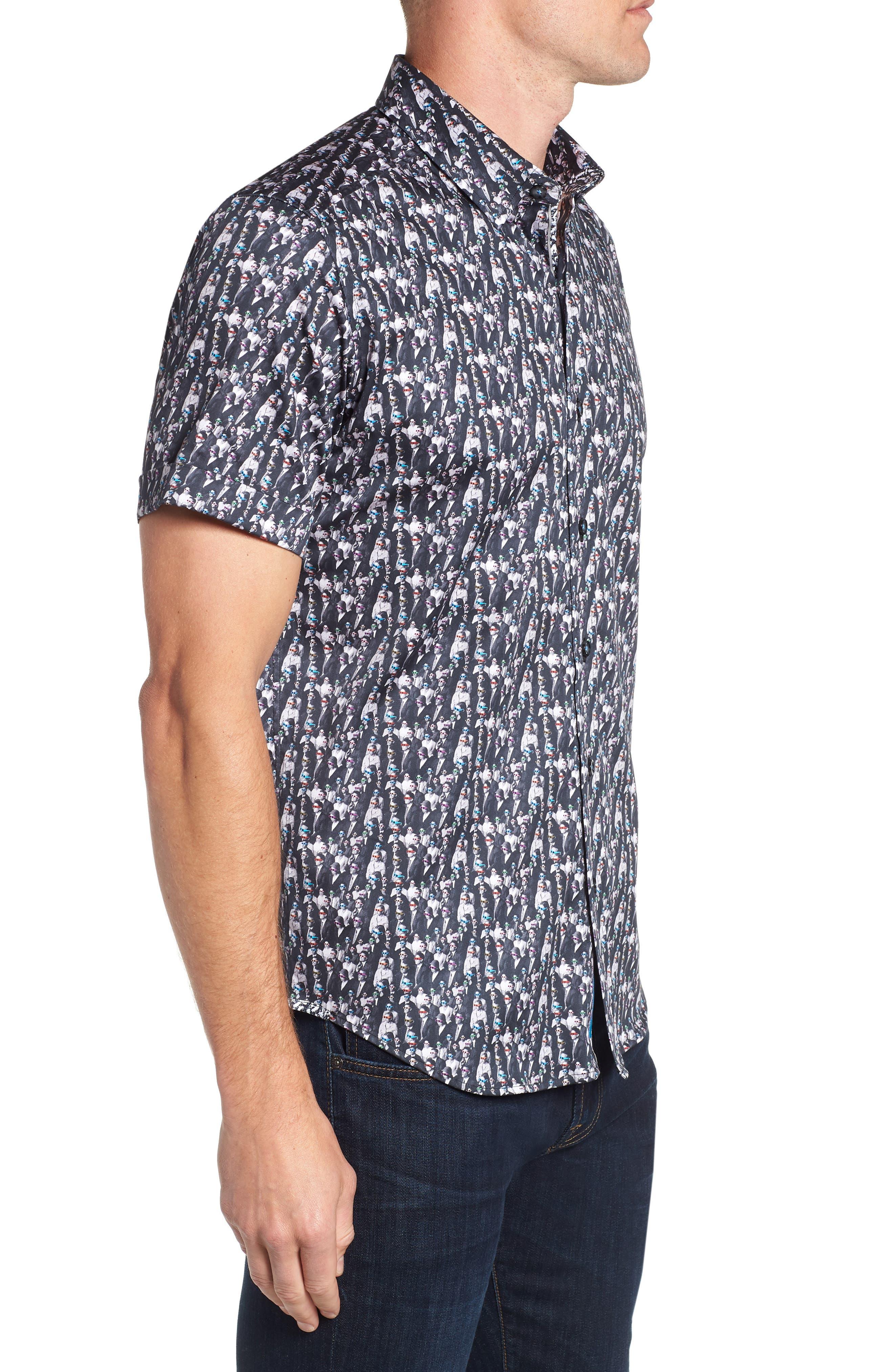 ROBERT GRAHAM,                             Cinema Tailored Fit Sport Shirt,                             Alternate thumbnail 4, color,                             001