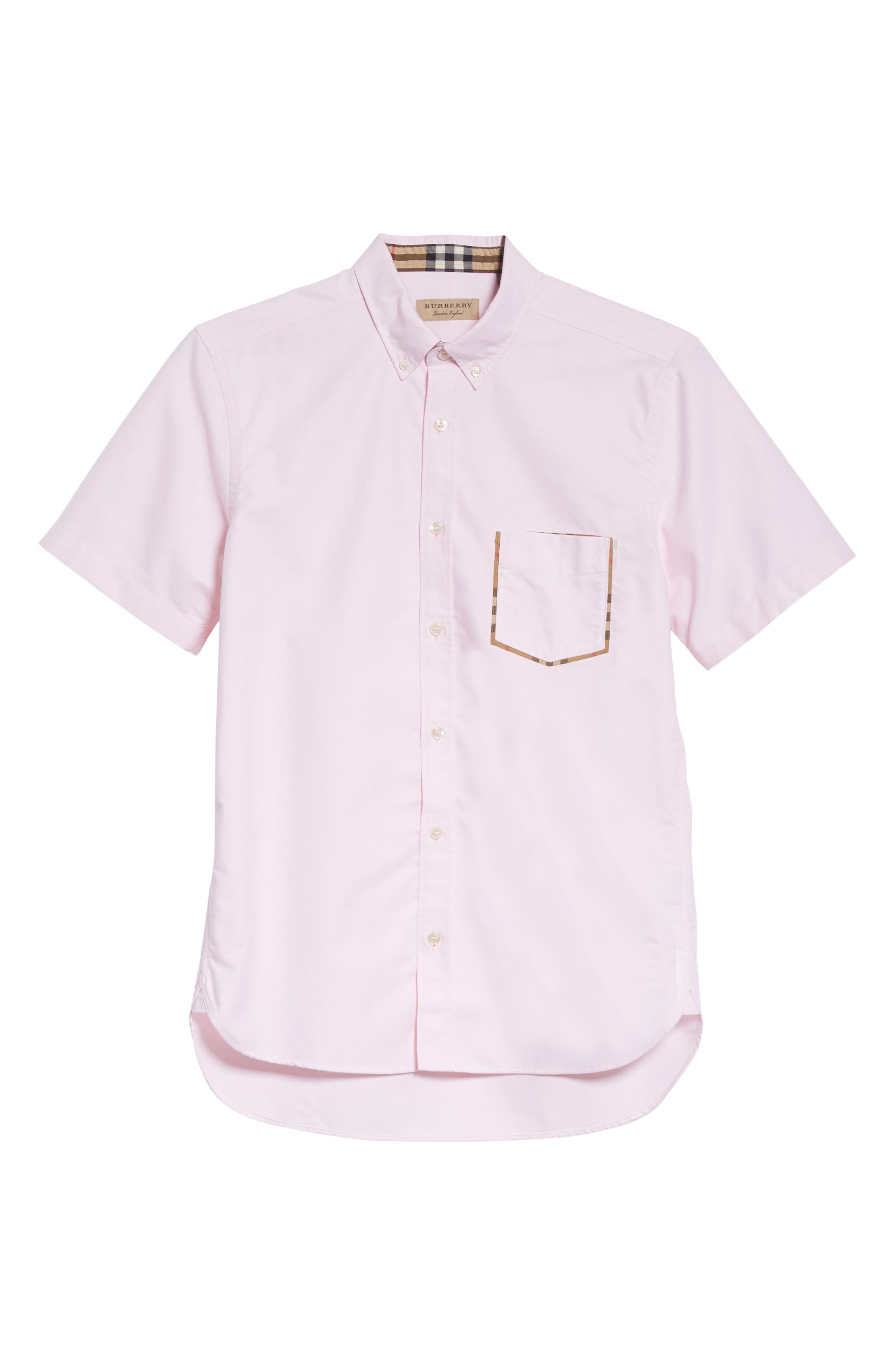 Harry Woven Sport Shirt,                             Alternate thumbnail 6, color,                             PALE PINK