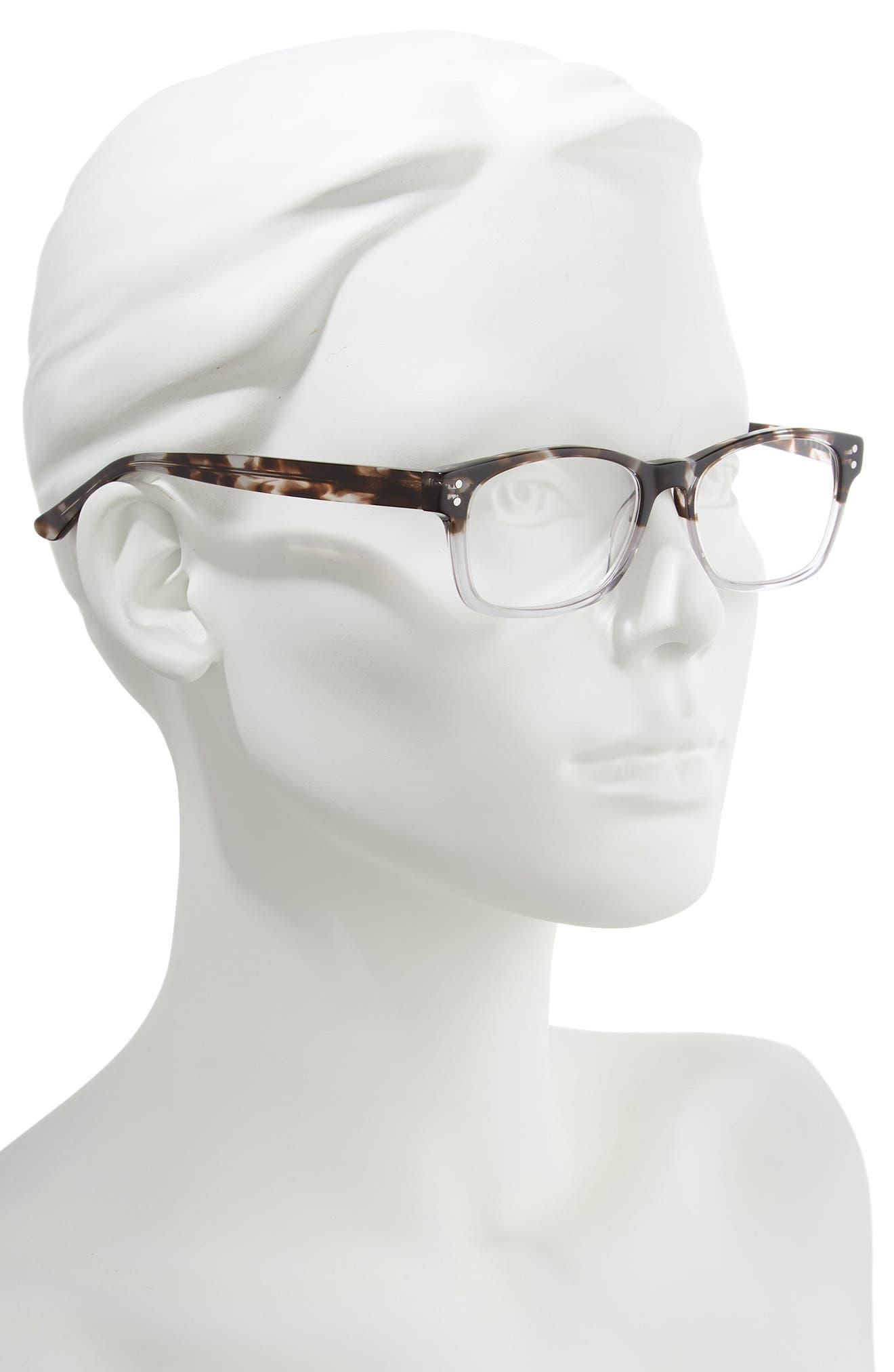 Edie 52mm Reading Glasses,                             Alternate thumbnail 2, color,                             GREY DEMI FADE