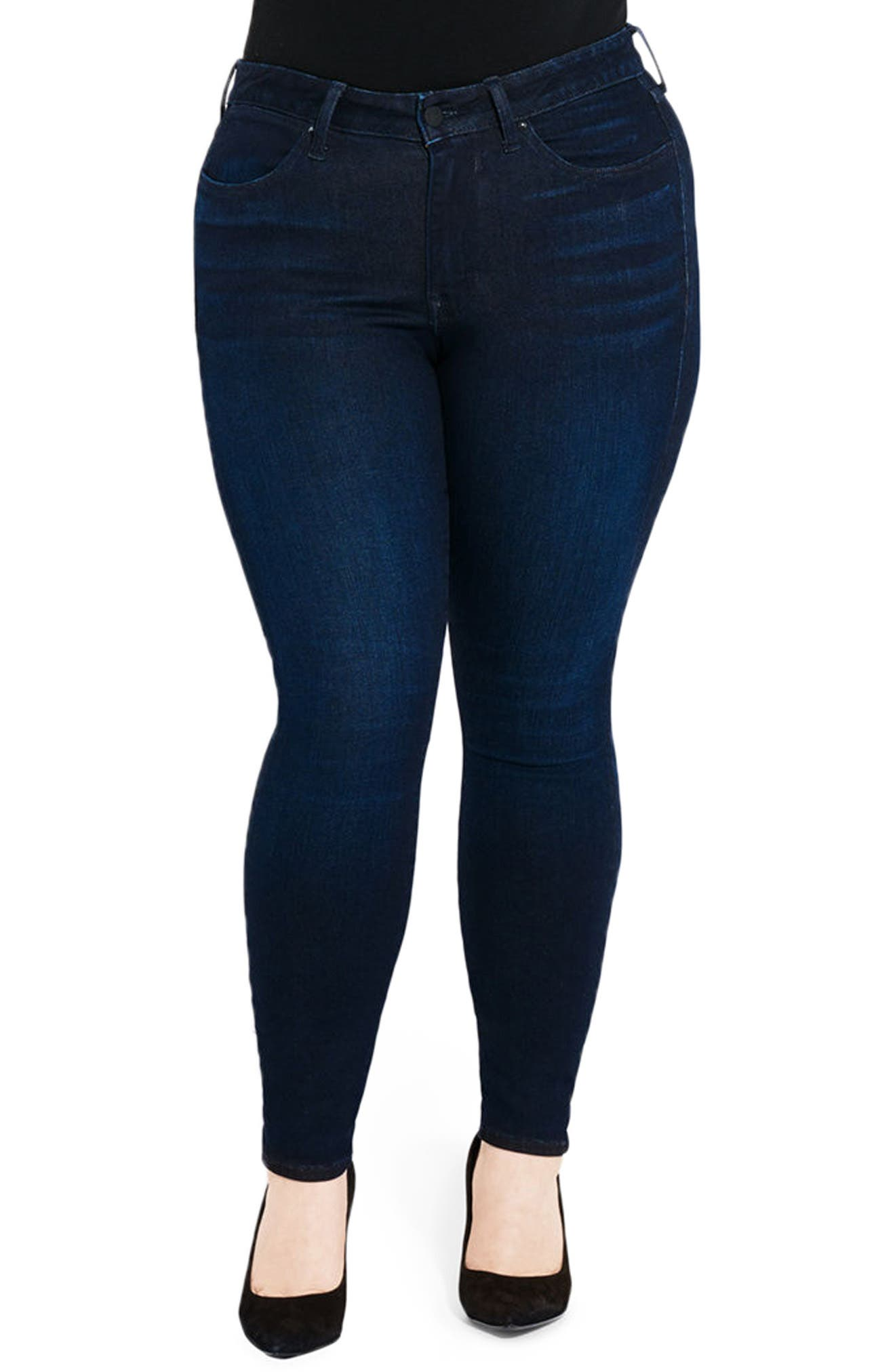 The One Love High Waist Skinny Jeans,                         Main,                         color, 400