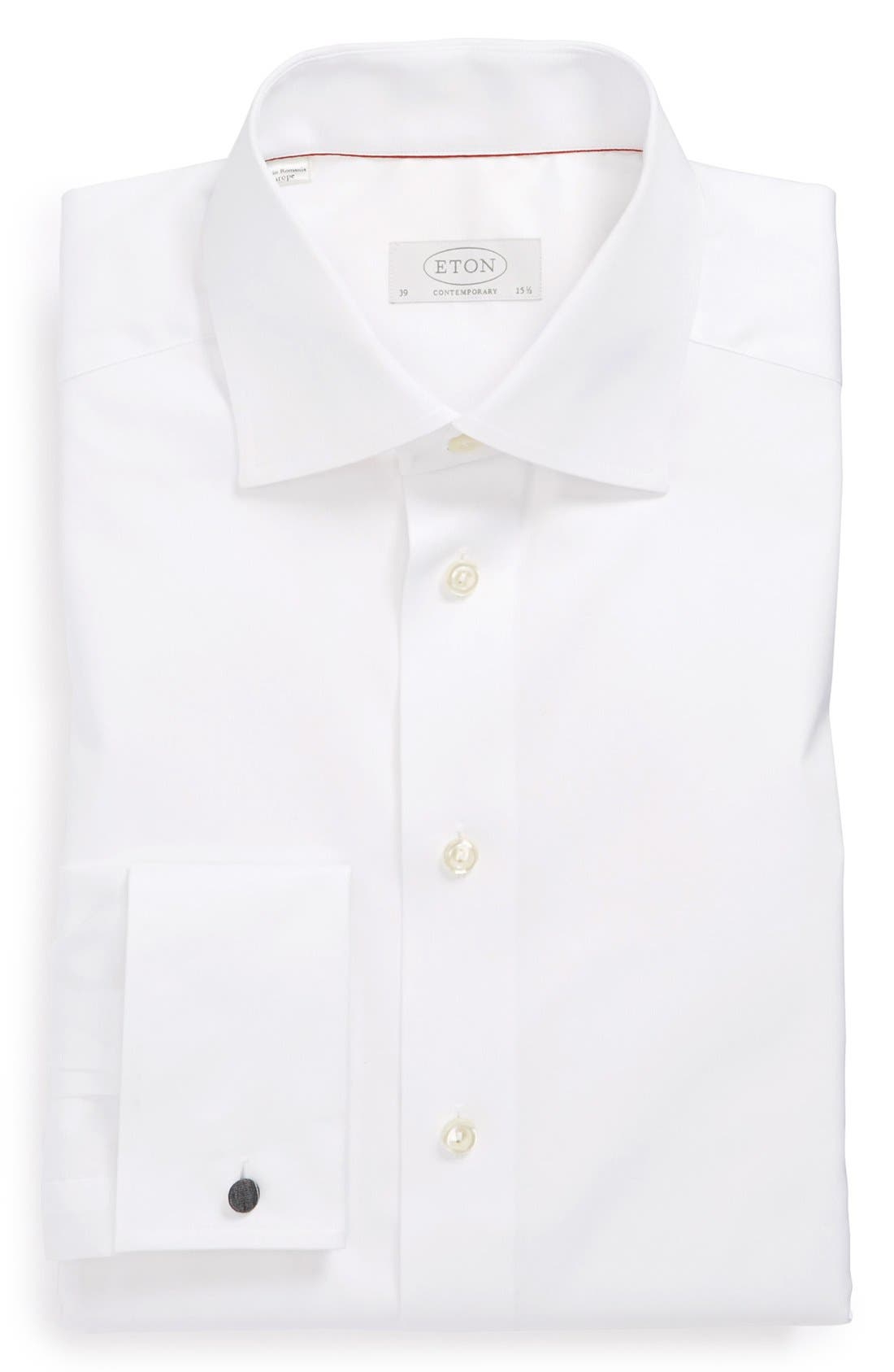 Contemporary Fit Dress Shirt,                         Main,                         color, WHITE