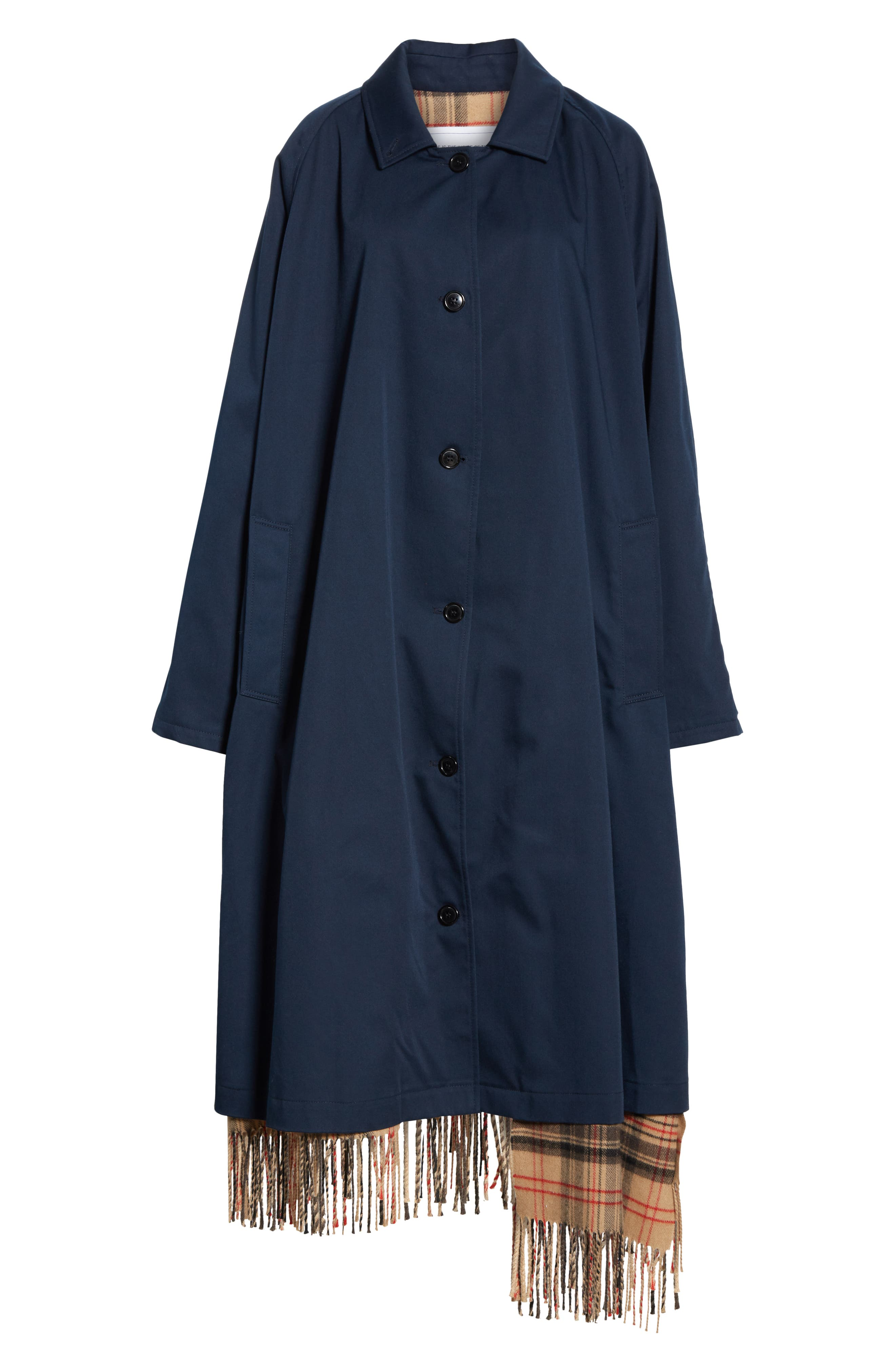 Scarf Trench Coat,                             Alternate thumbnail 5, color,                             410