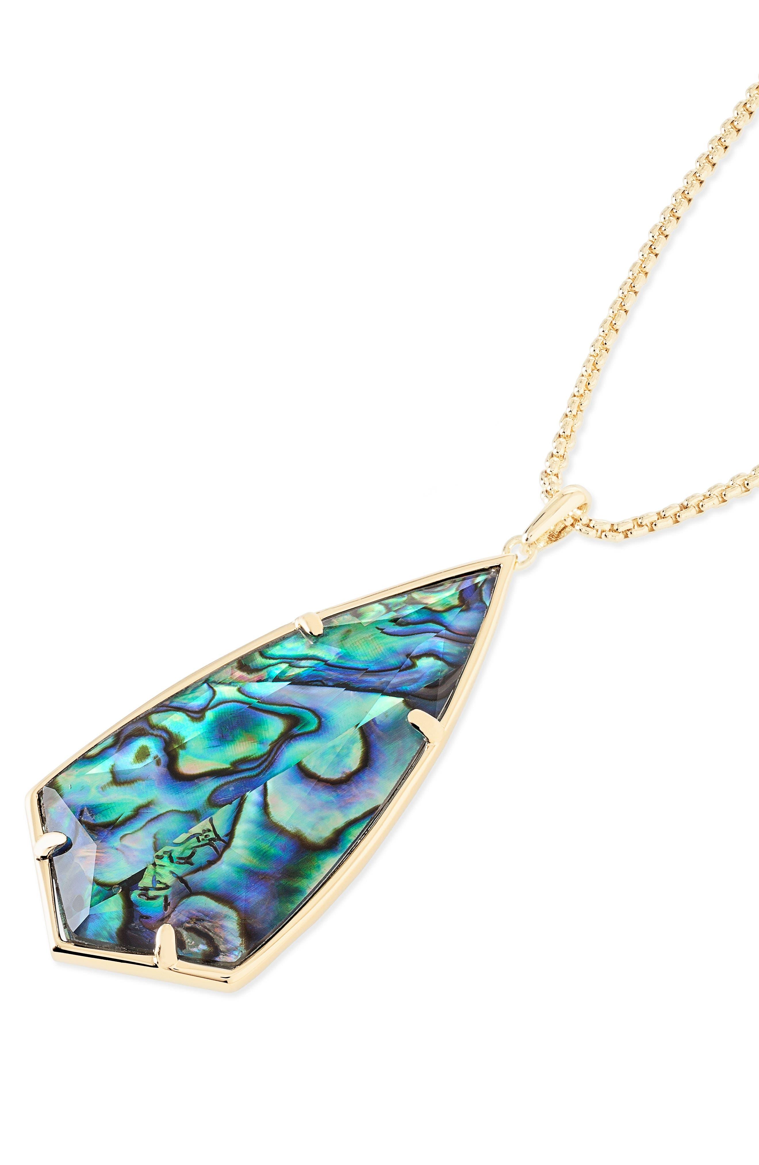 'Carole' Long Semiprecious Stone Pendant Necklace,                             Alternate thumbnail 32, color,