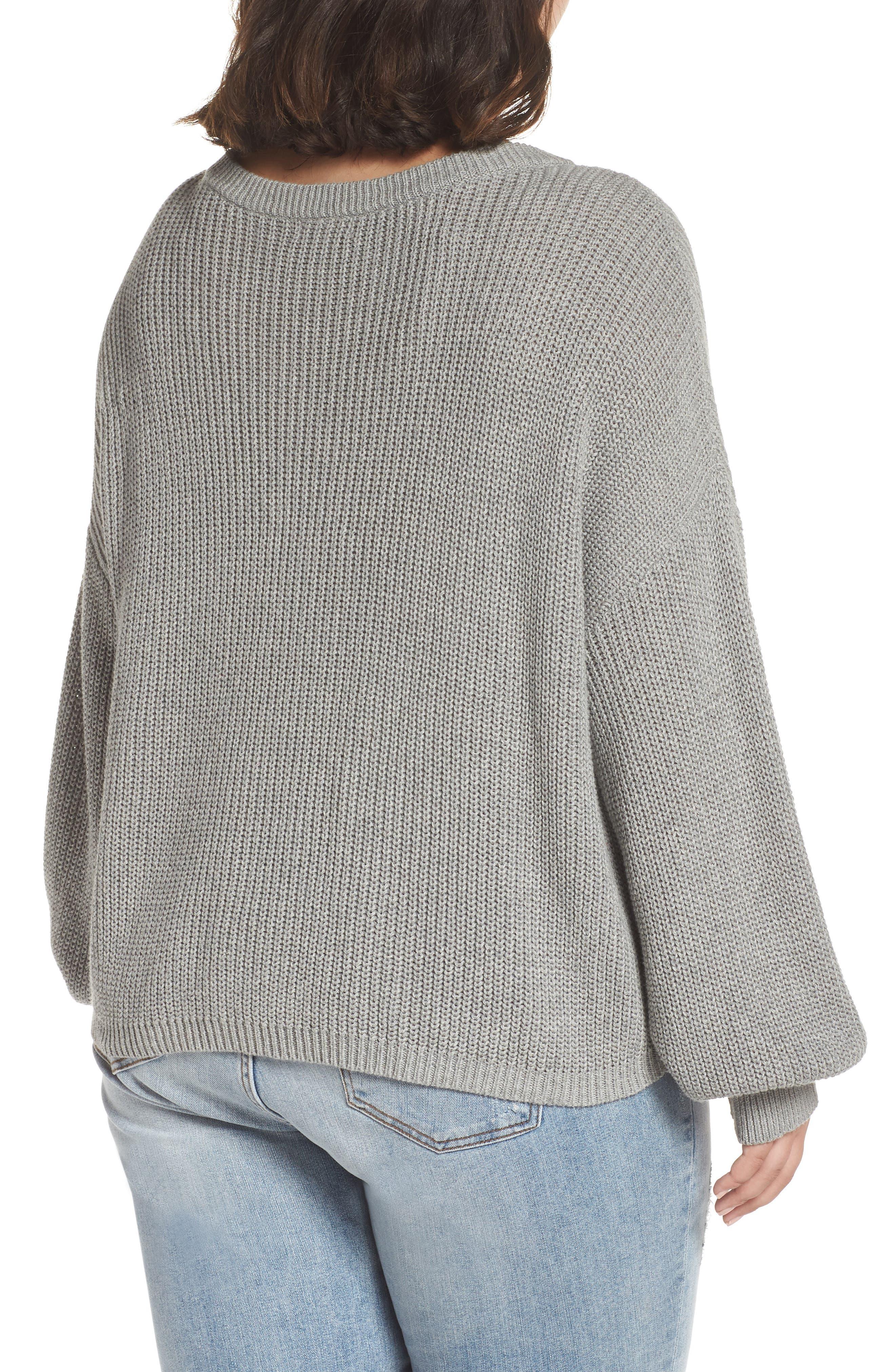 V Neck Cotton Sweater,                             Alternate thumbnail 8, color,                             030