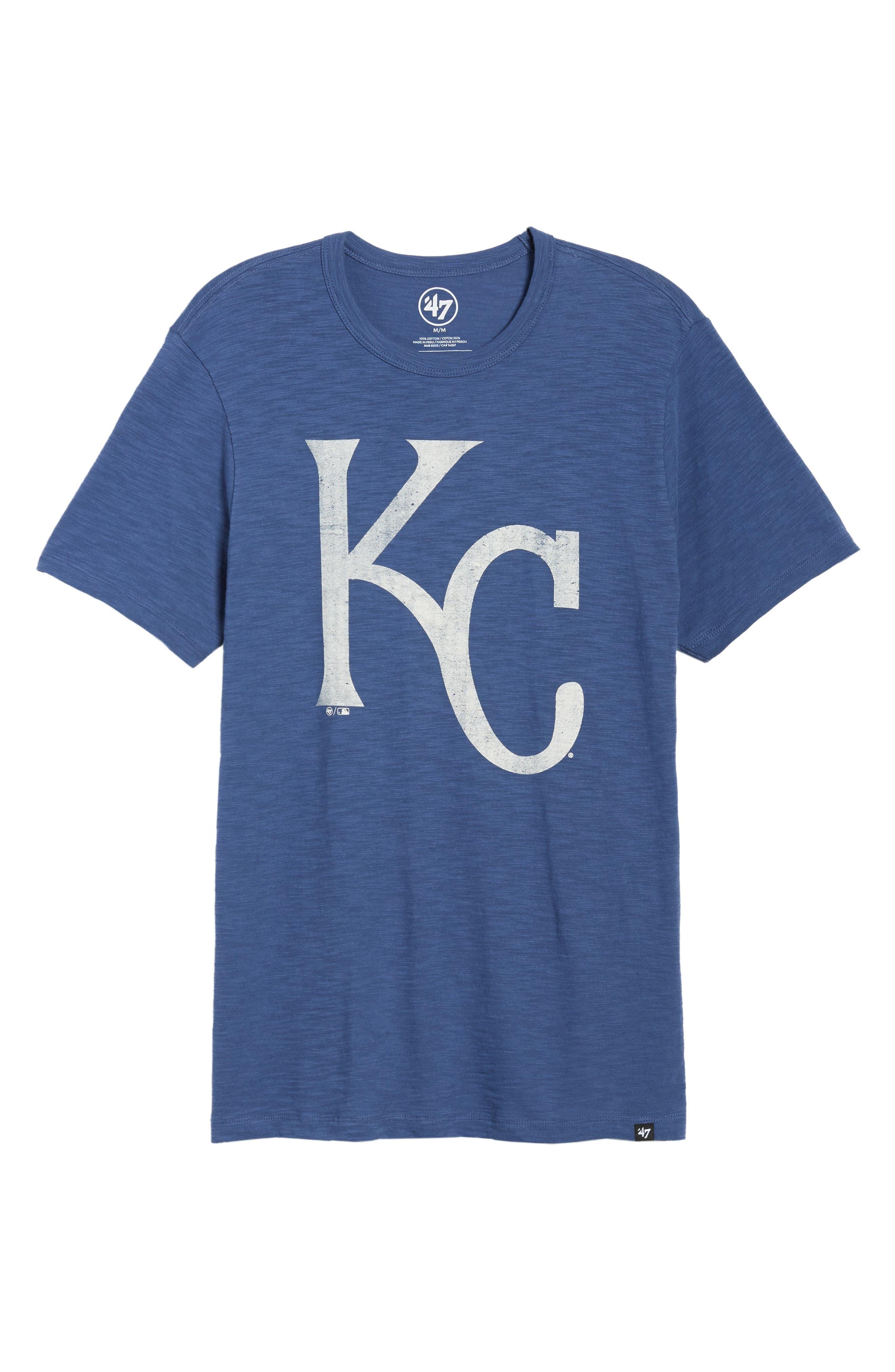 MLB Grit Scrum Kansas City Royals T-Shirt,                             Alternate thumbnail 6, color,                             BLEACHER BLUE