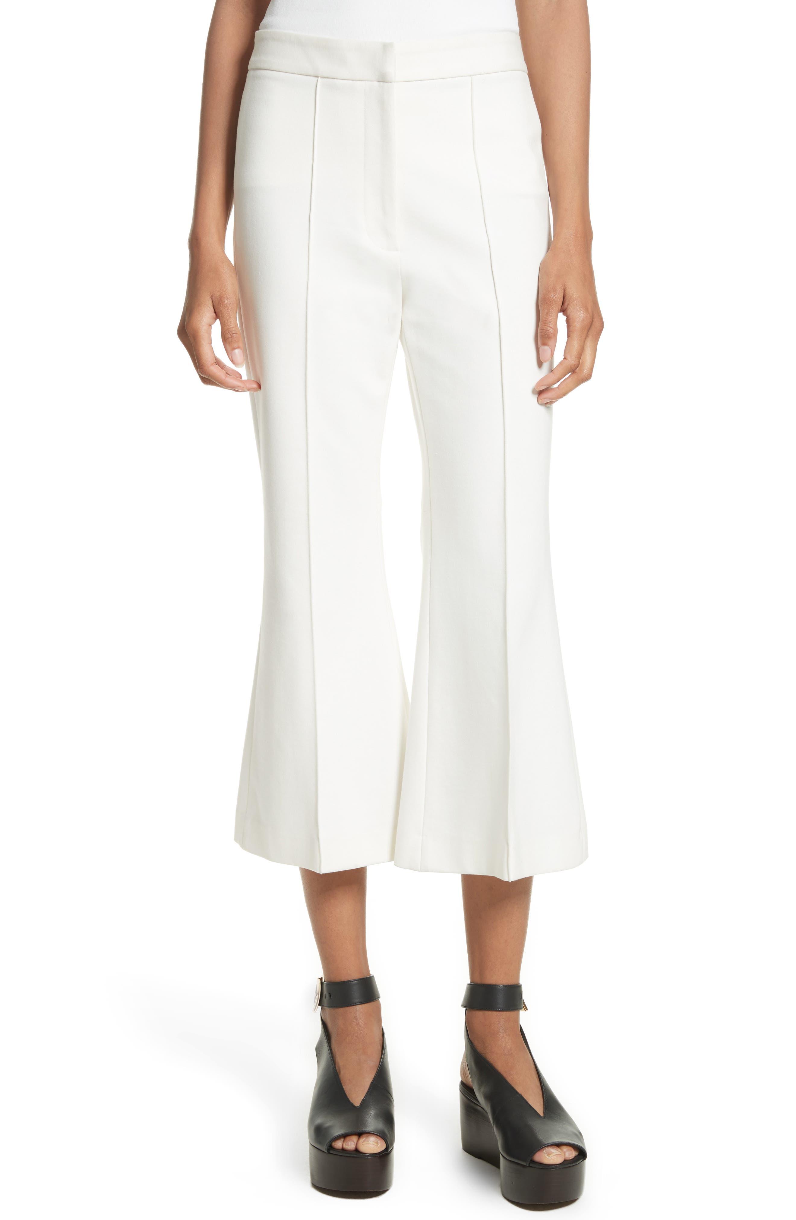 Crop Flare Leg Pants,                         Main,                         color, 100