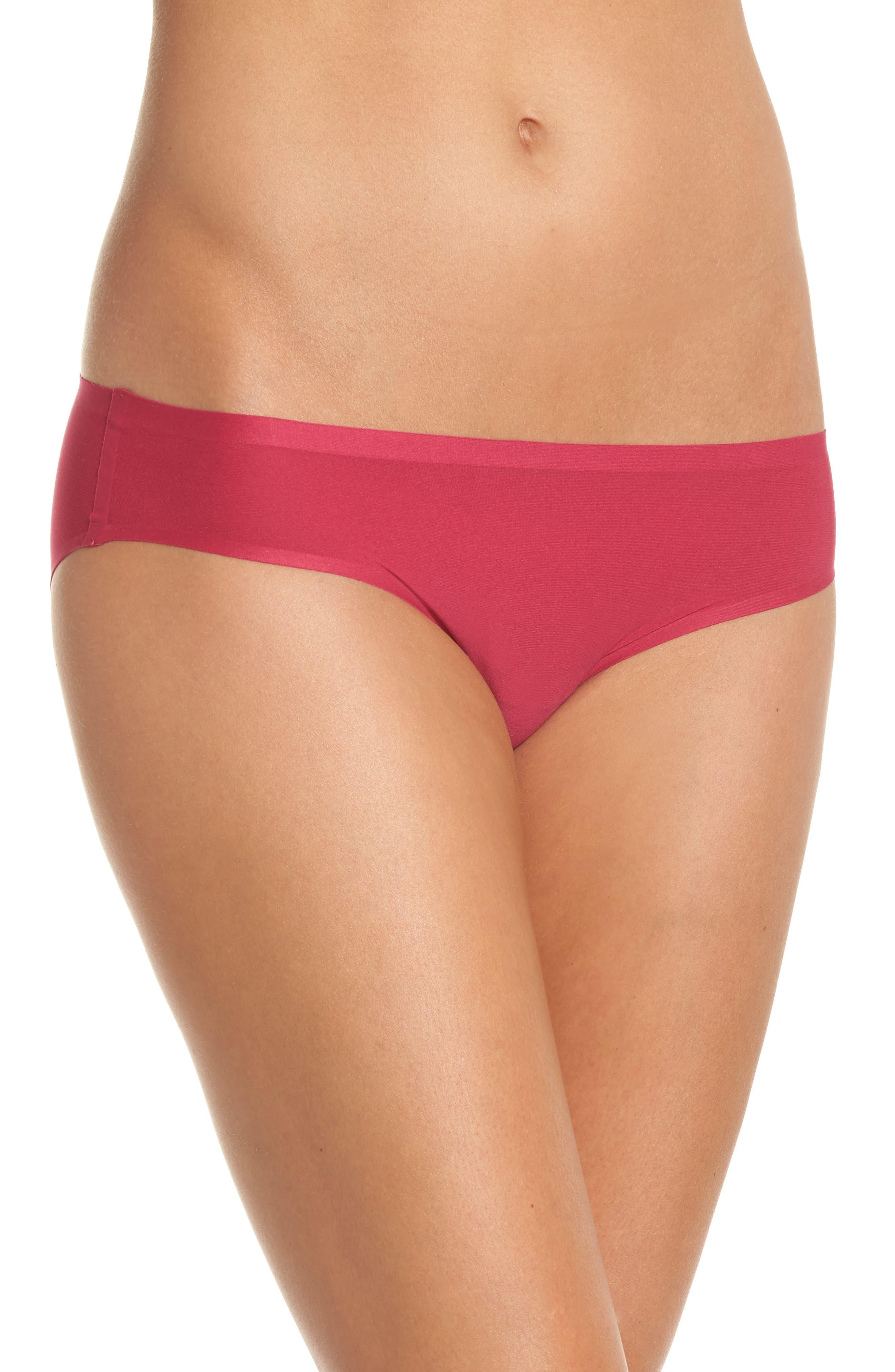 Soft Stretch Seamless Bikini,                             Main thumbnail 1, color,                             MAGENTA