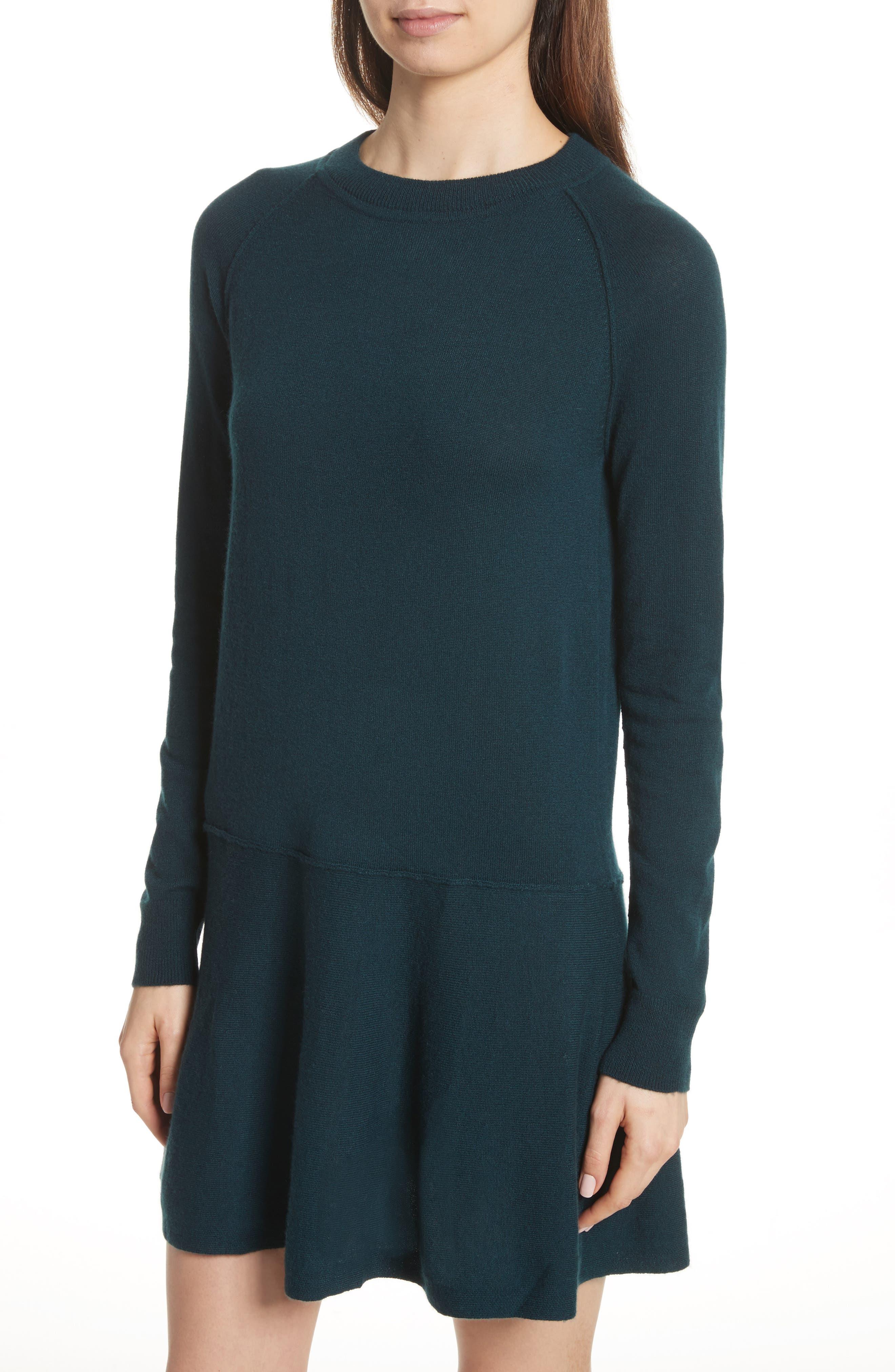 Cashmere Drop Waist Sweater Dress,                             Alternate thumbnail 8, color,