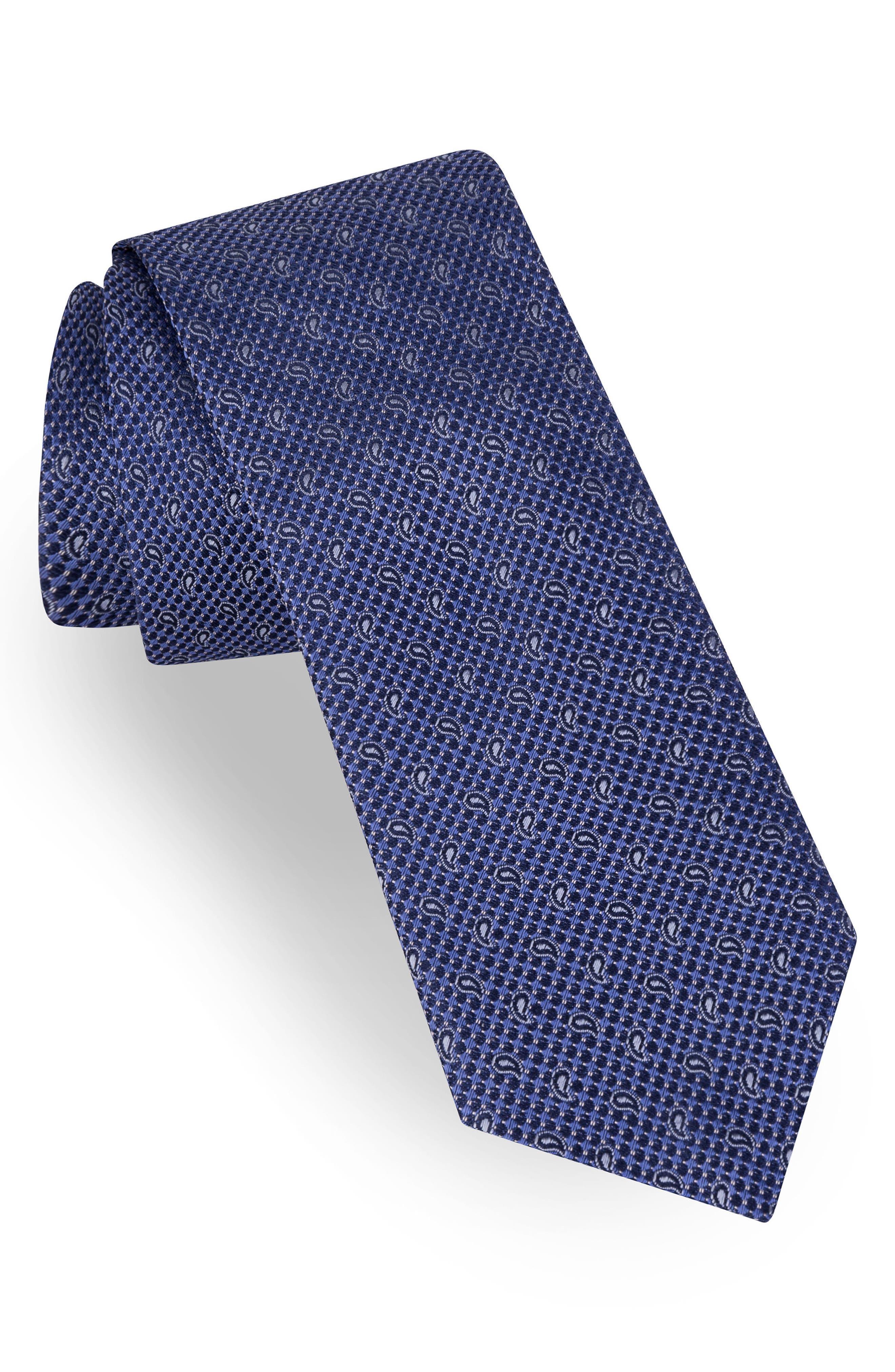 Paisley Silk Tie,                             Main thumbnail 1, color,                             455