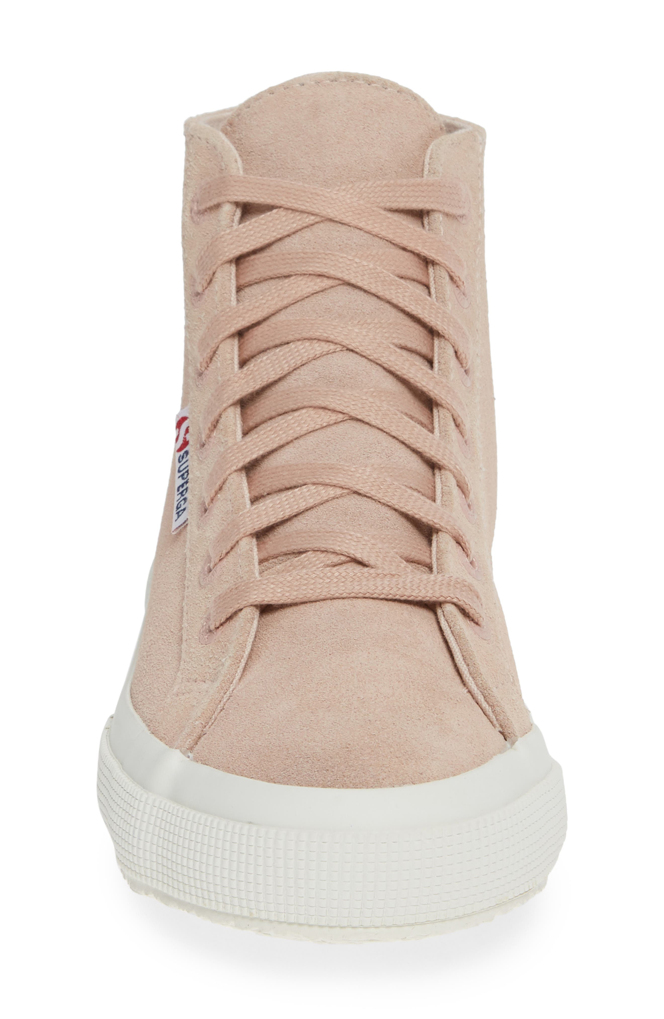 2795 High Top Sneaker,                             Alternate thumbnail 4, color,                             ROSE SUEDE