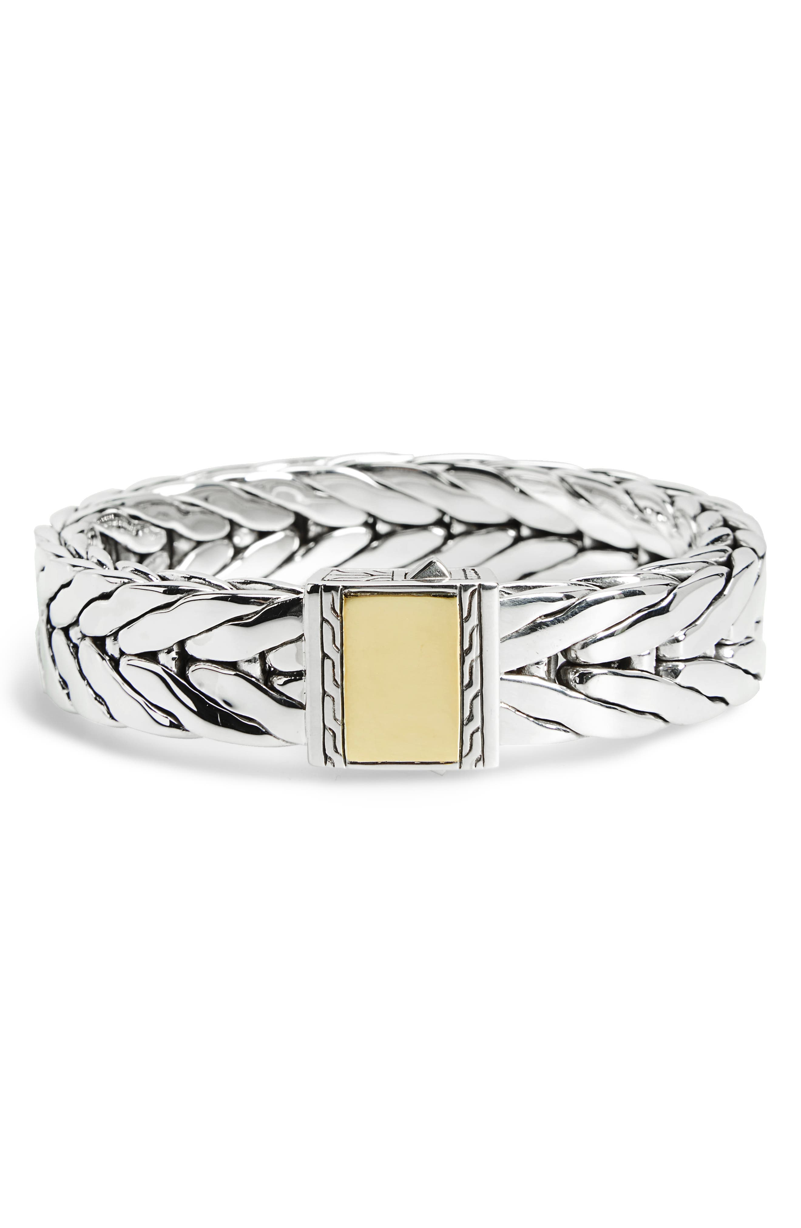 Modern Chain Extra Large Chain Bracelet,                             Main thumbnail 1, color,                             SILVER/ GOLD