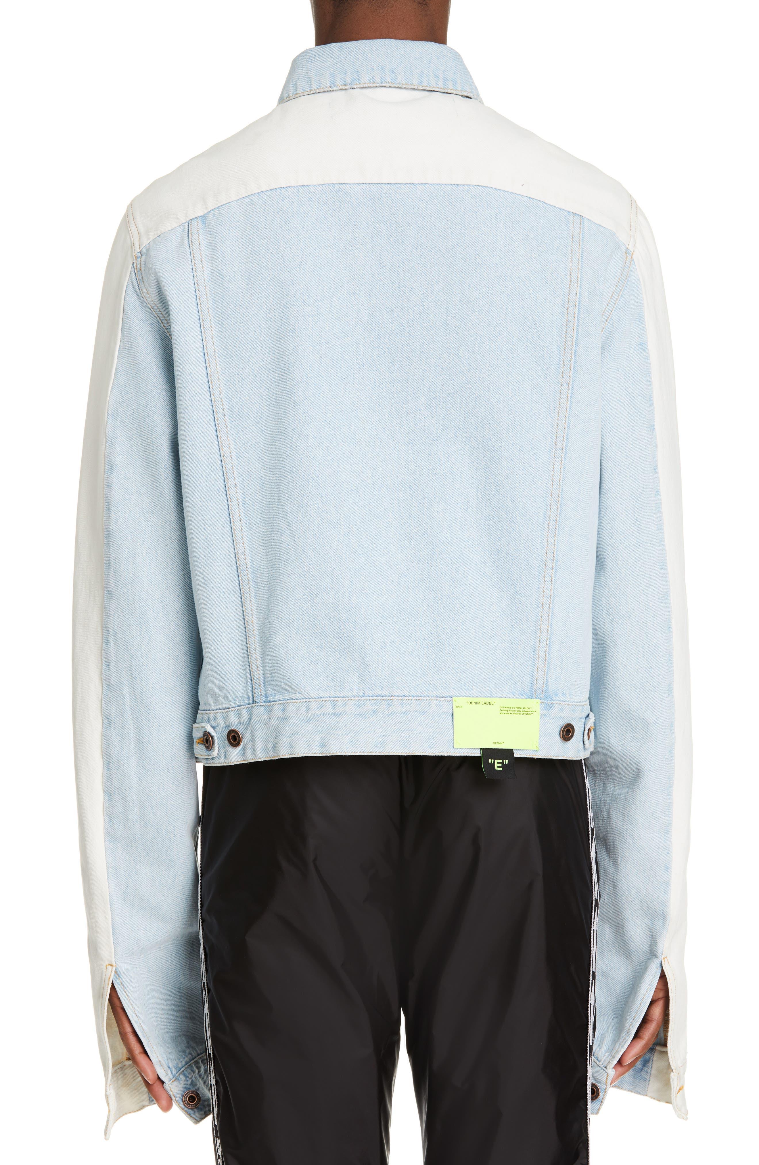Exaggerated Sleeve Denim Jacket,                             Alternate thumbnail 2, color,                             BLEACH