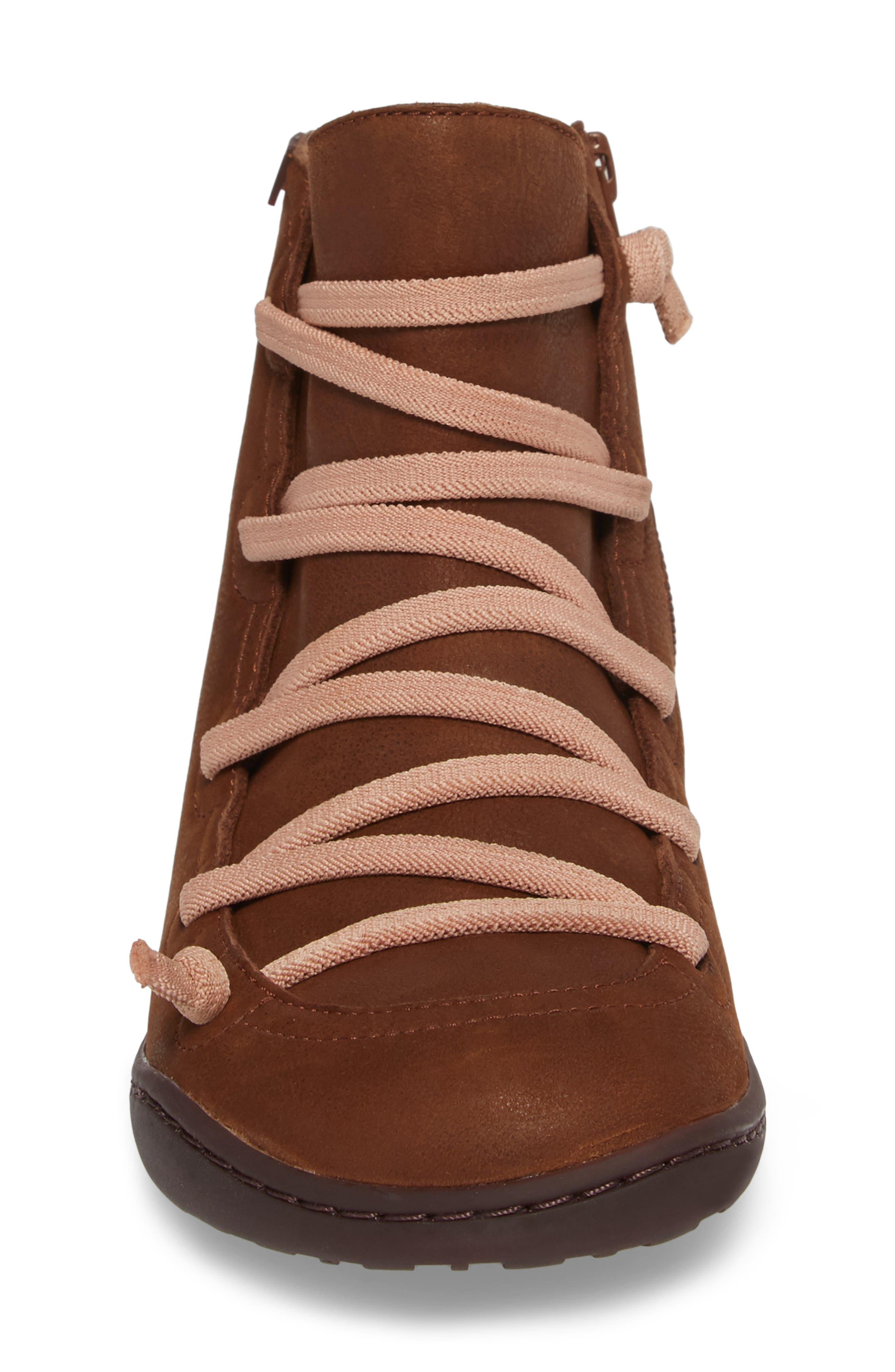 CAMPER,                             Peu Cami Bootie,                             Alternate thumbnail 4, color,                             MEDIUM BROWN LEATHER
