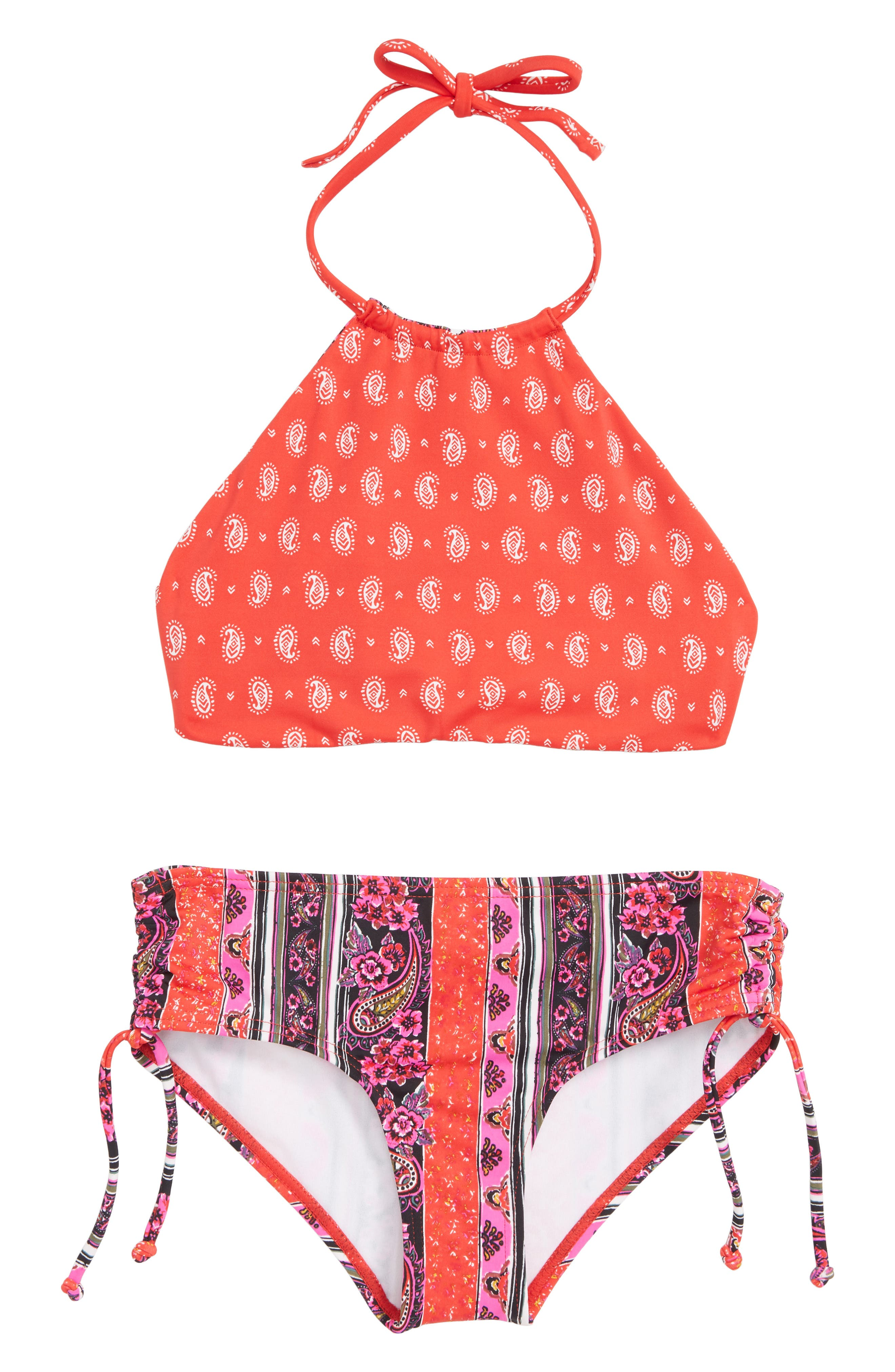 Stay 4 Ever Two-Piece Reversible Swimsuit,                             Alternate thumbnail 2, color,                             PINK MULTI