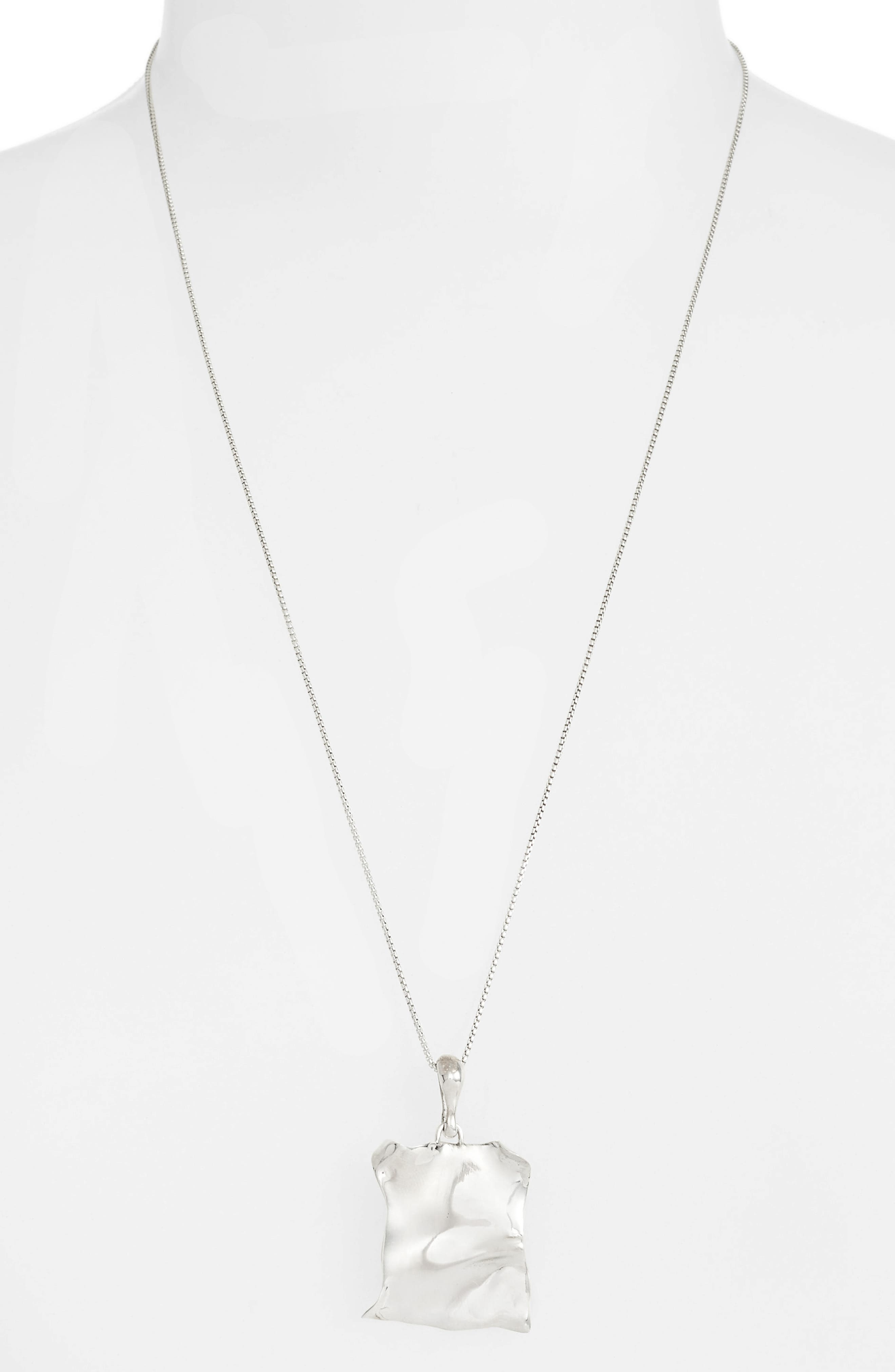 FARIS Tag Pendant Necklace in Sterling Silver