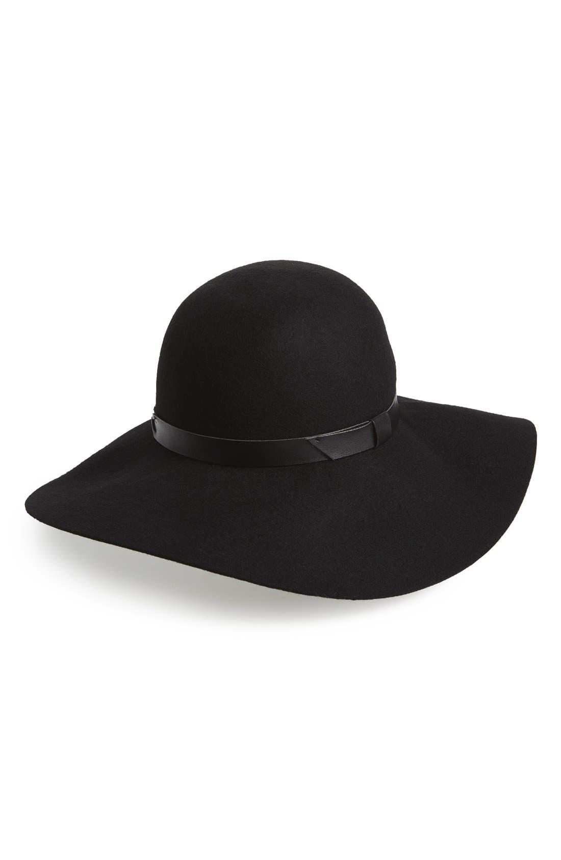 Floppy Wool Felt Hat,                             Main thumbnail 1, color,                             001