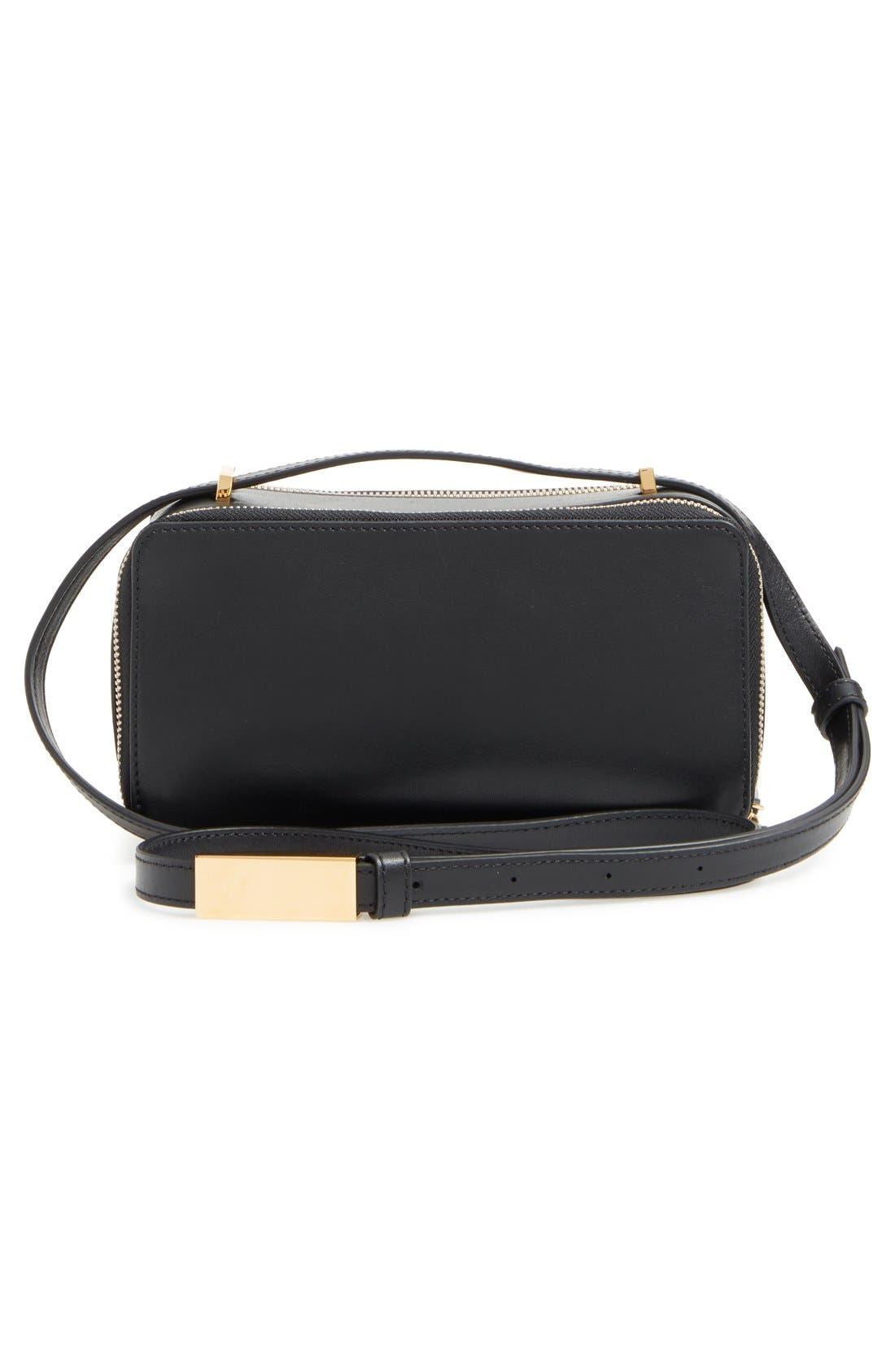 WANT LES ESSENTIELS,                             'Demiranda' Leather Shoulder Bag,                             Alternate thumbnail 6, color,                             001