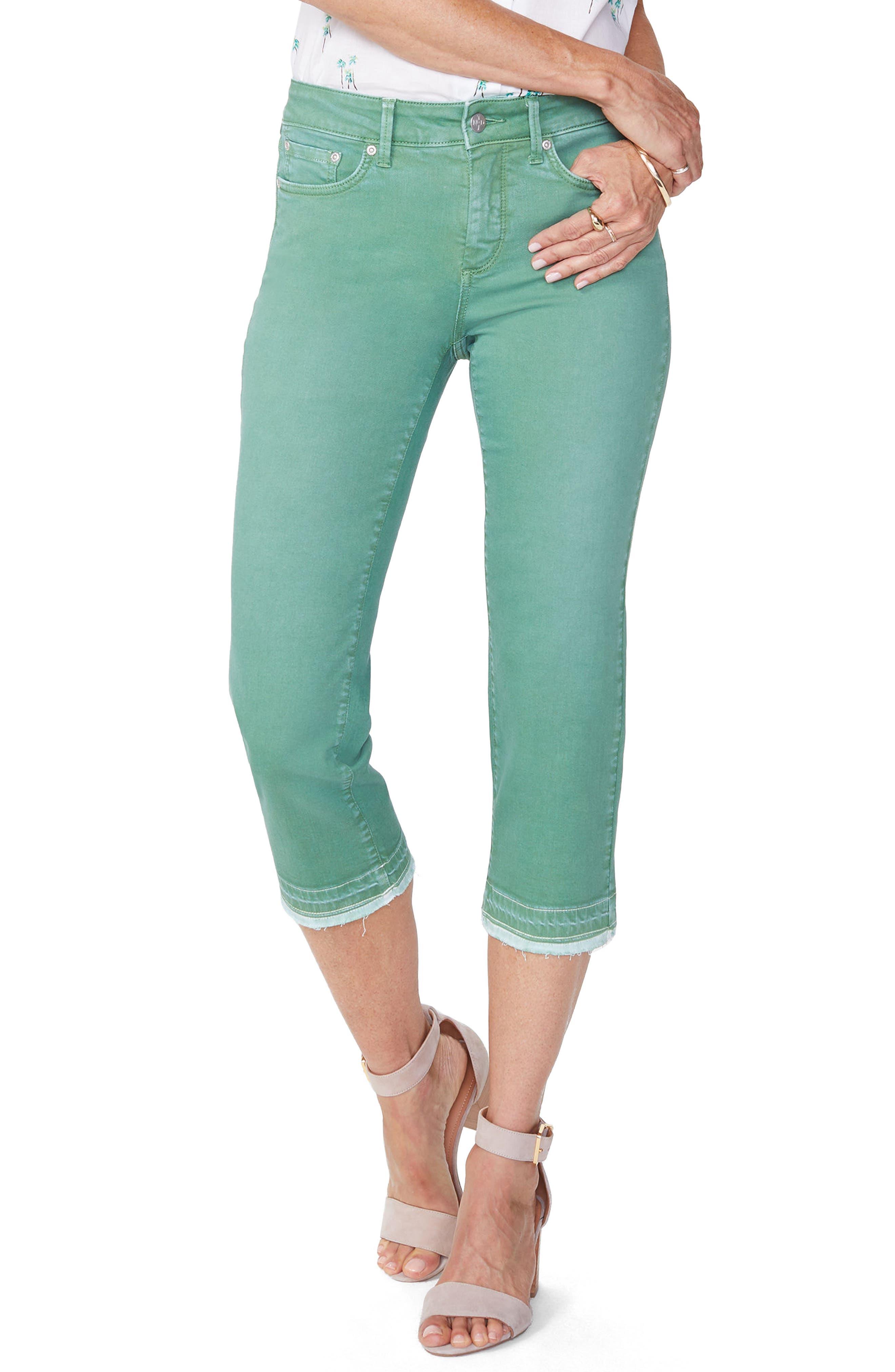 Release Hem Capri Skinny Jeans,                         Main,                         color, CACTUS