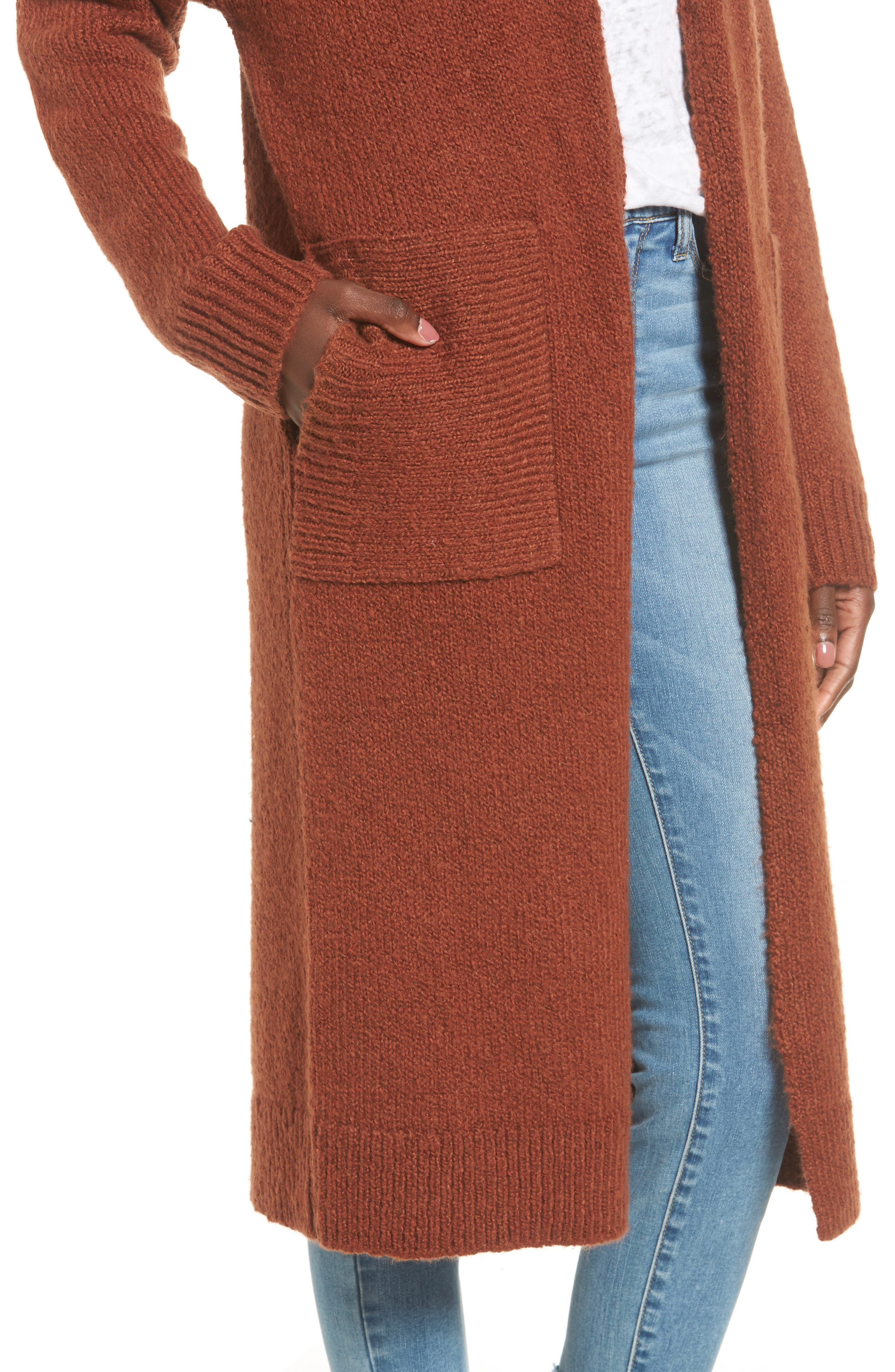Longline Cardigan,                             Alternate thumbnail 8, color,
