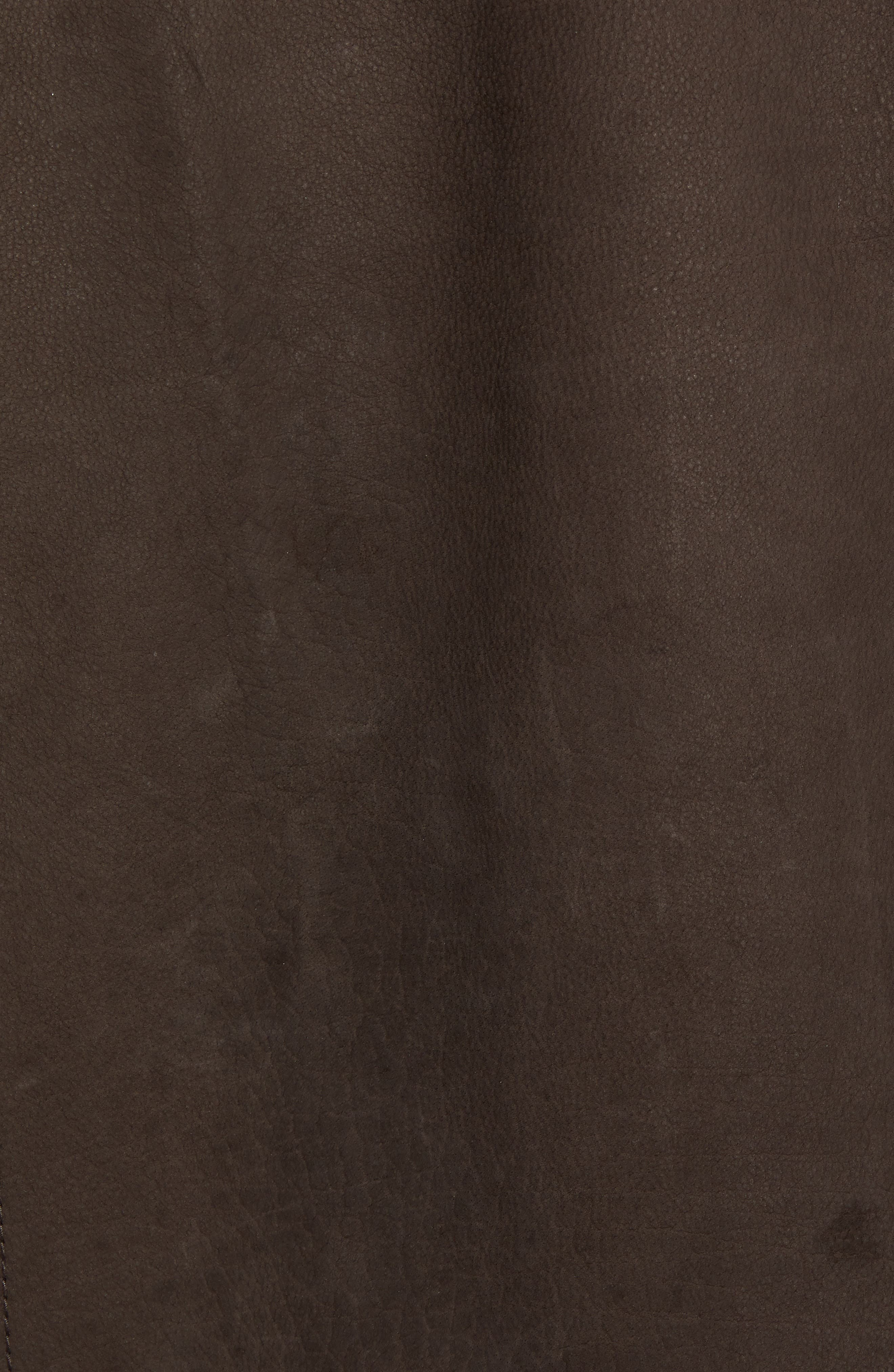 Elliott Bay Leather Jacket,                             Alternate thumbnail 6, color,                             COFFEE