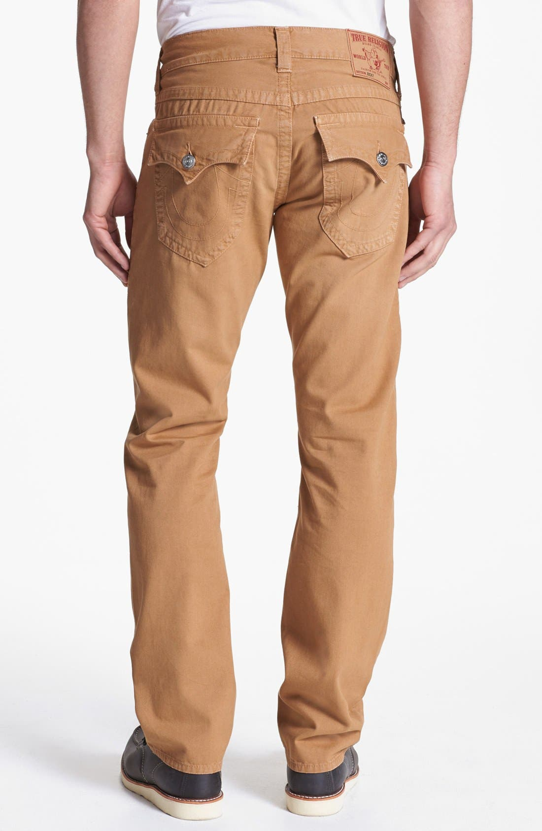 'Ricky' Straight Leg Cotton Twill Pants,                             Alternate thumbnail 17, color,