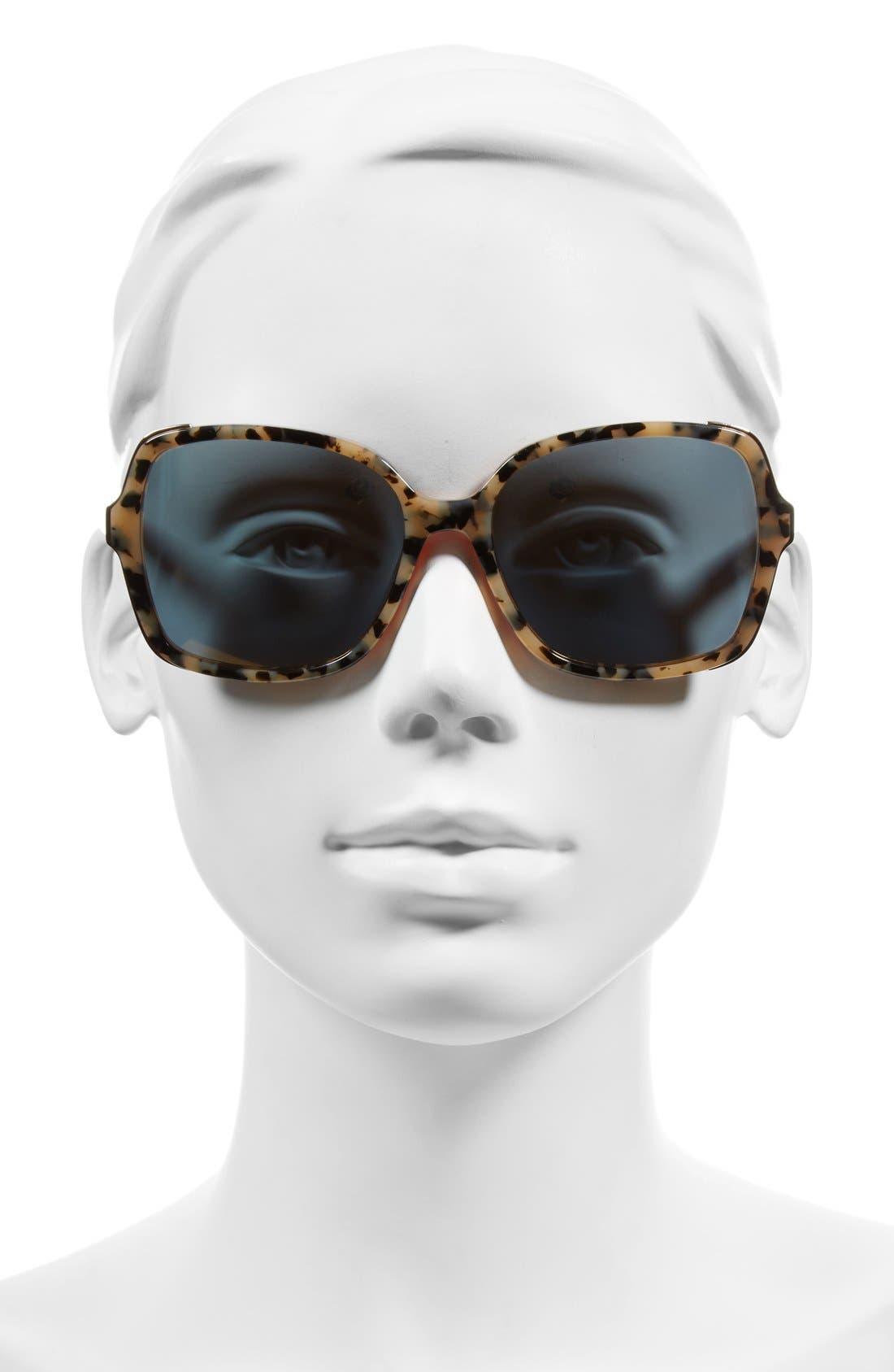 'The Alice' 57mm Sunglasses,                             Alternate thumbnail 6, color,
