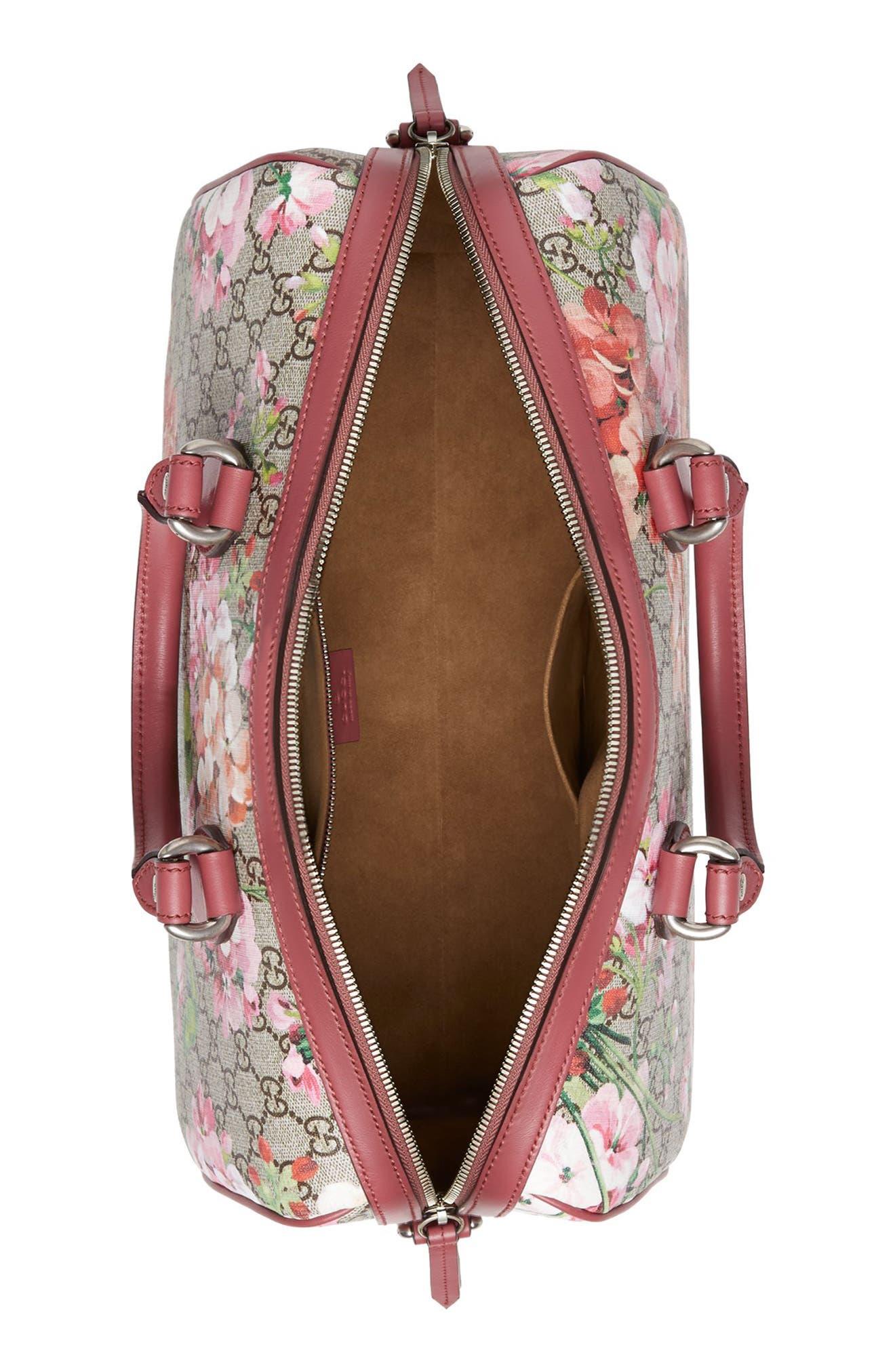 Medium Blooms GG Supreme Top Handle Canvas Bag,                             Alternate thumbnail 3, color,                             250