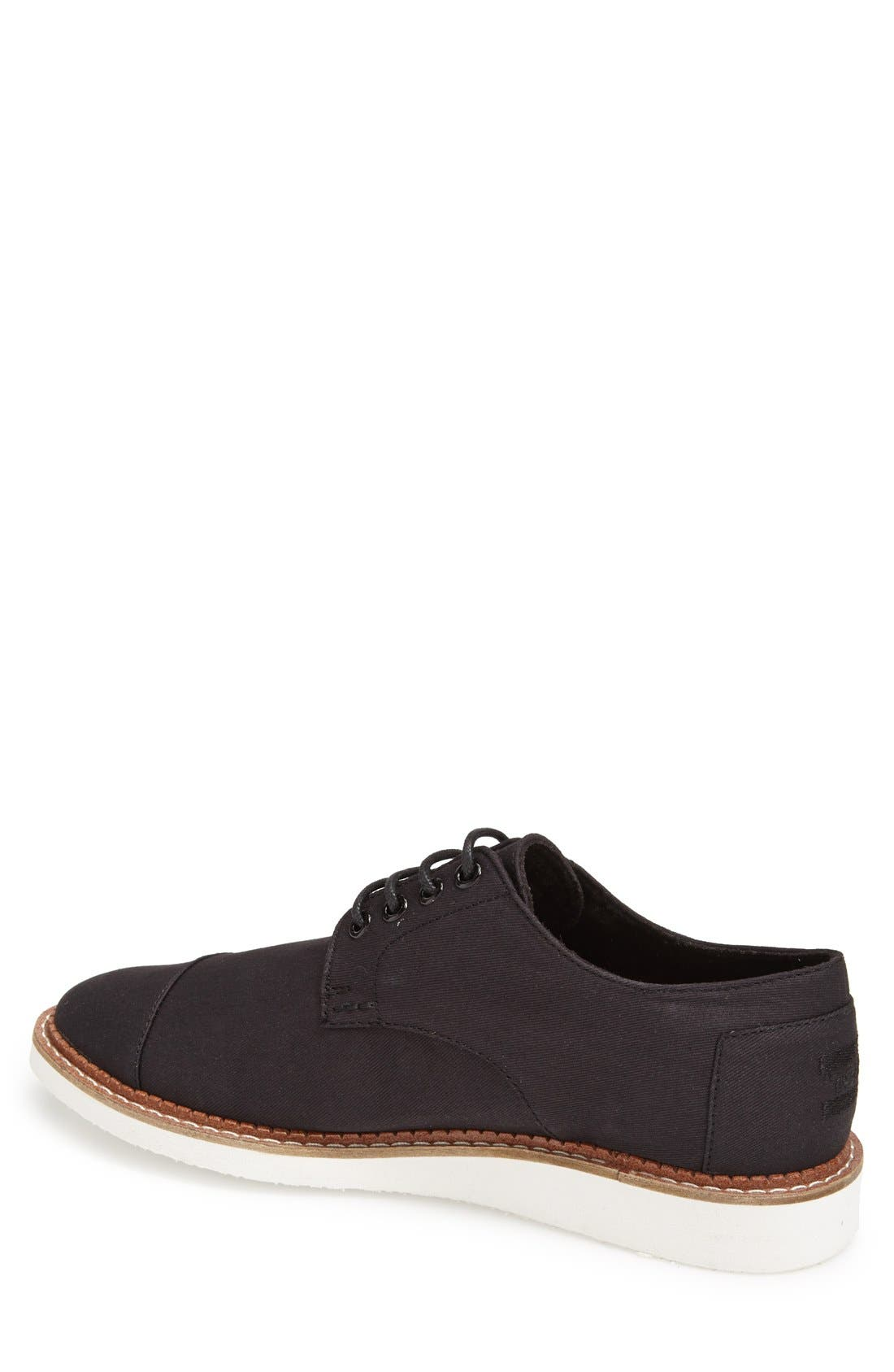 'Classic Brogue' Cotton Twill Derby,                             Alternate thumbnail 2, color,                             001