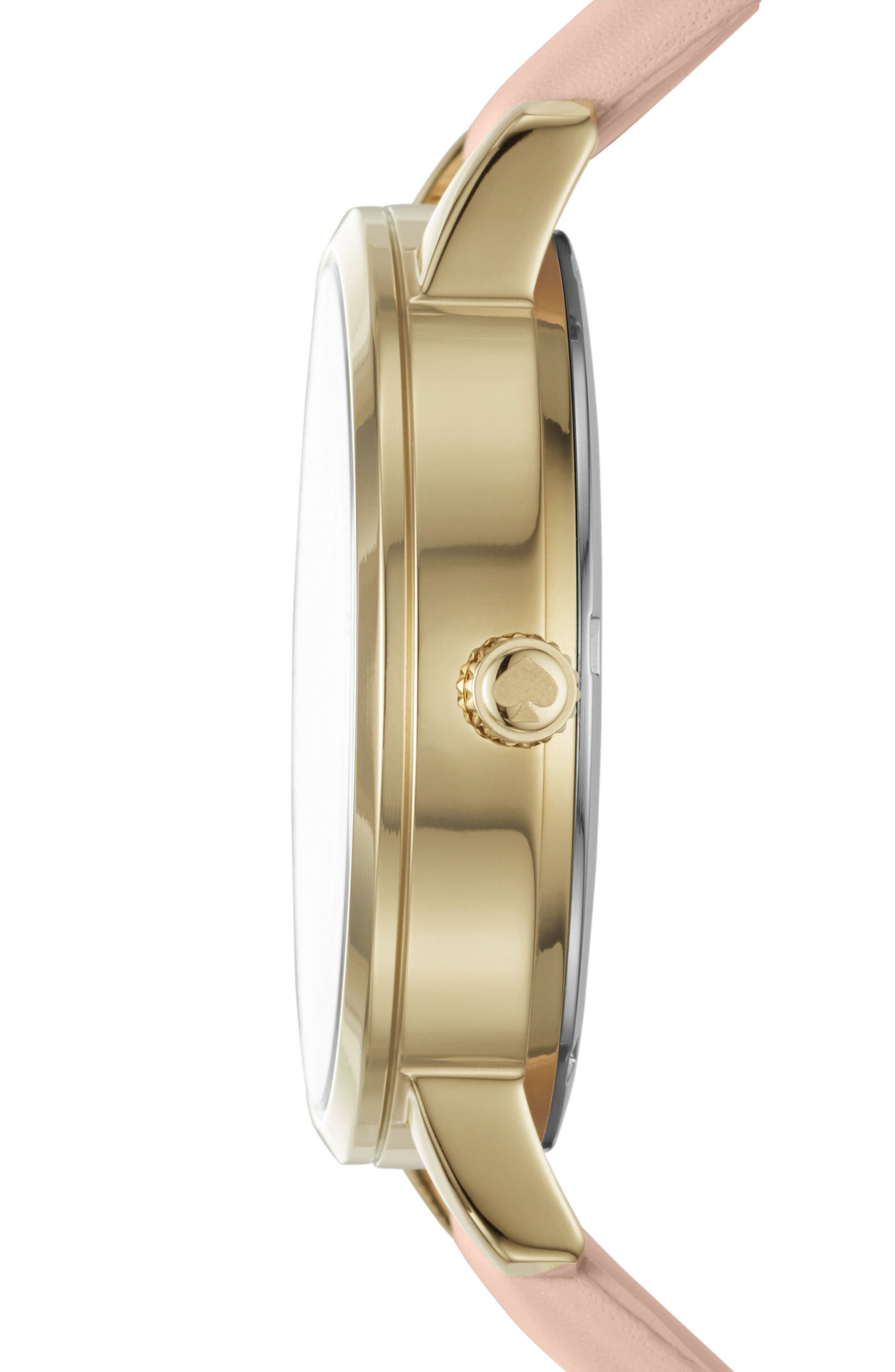 grand metro antoine leather strap watch, 38mm,                             Alternate thumbnail 2, color,                             NUDE/ CREAM/ GOLD