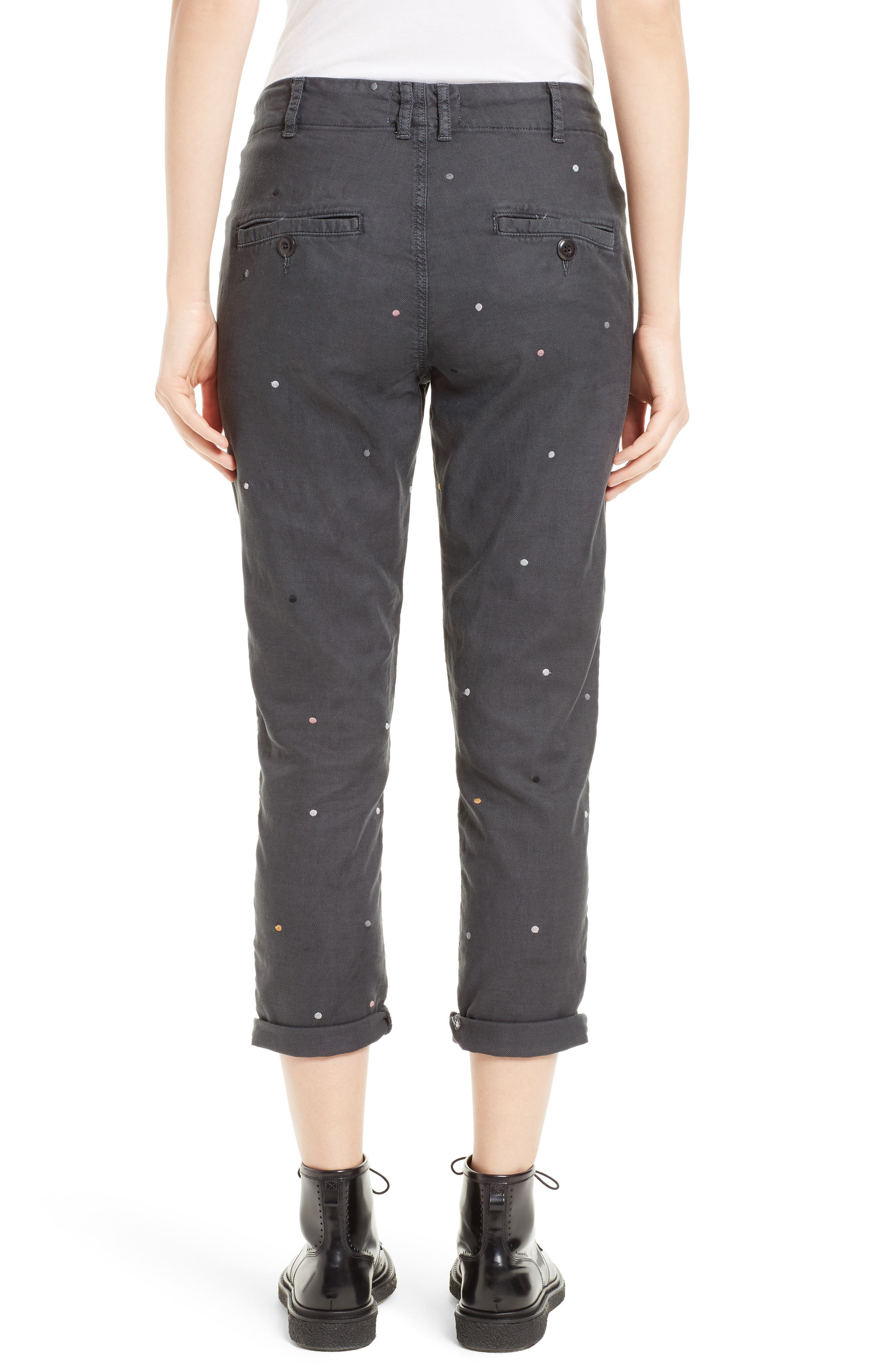 The Miner Crop Trousers,                             Alternate thumbnail 2, color,                             001