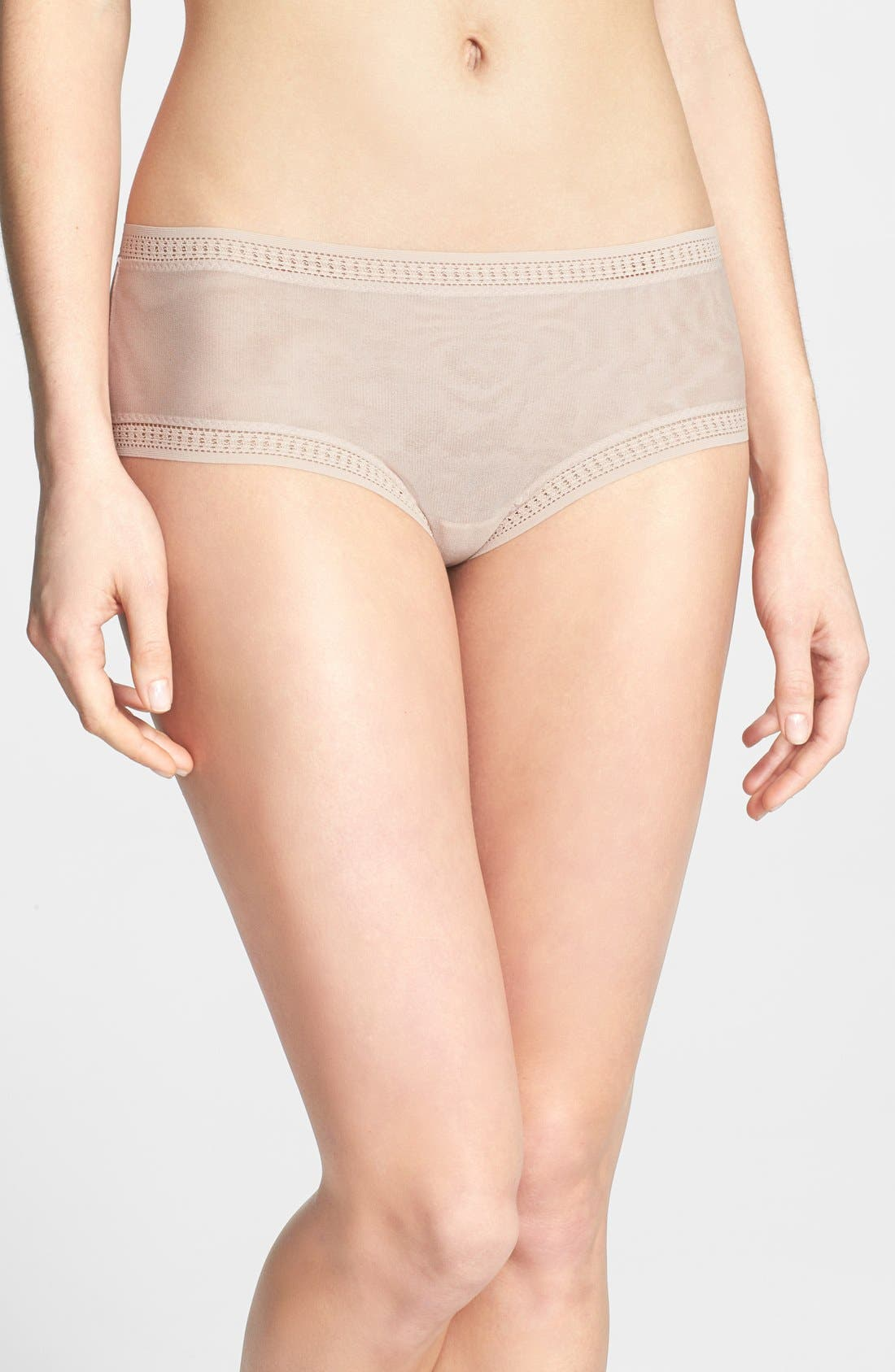 Mesh Hipster Boyshorts,                             Main thumbnail 1, color,                             CHAMPAGNE