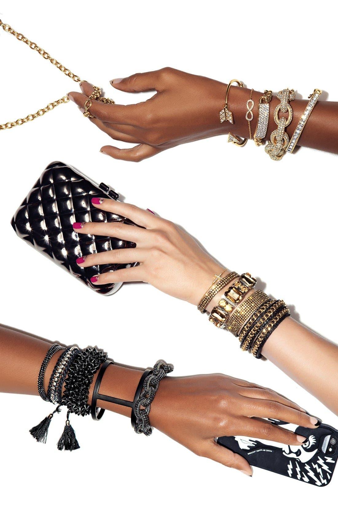 Leather Wrap Bracelet,                             Alternate thumbnail 5, color,                             001