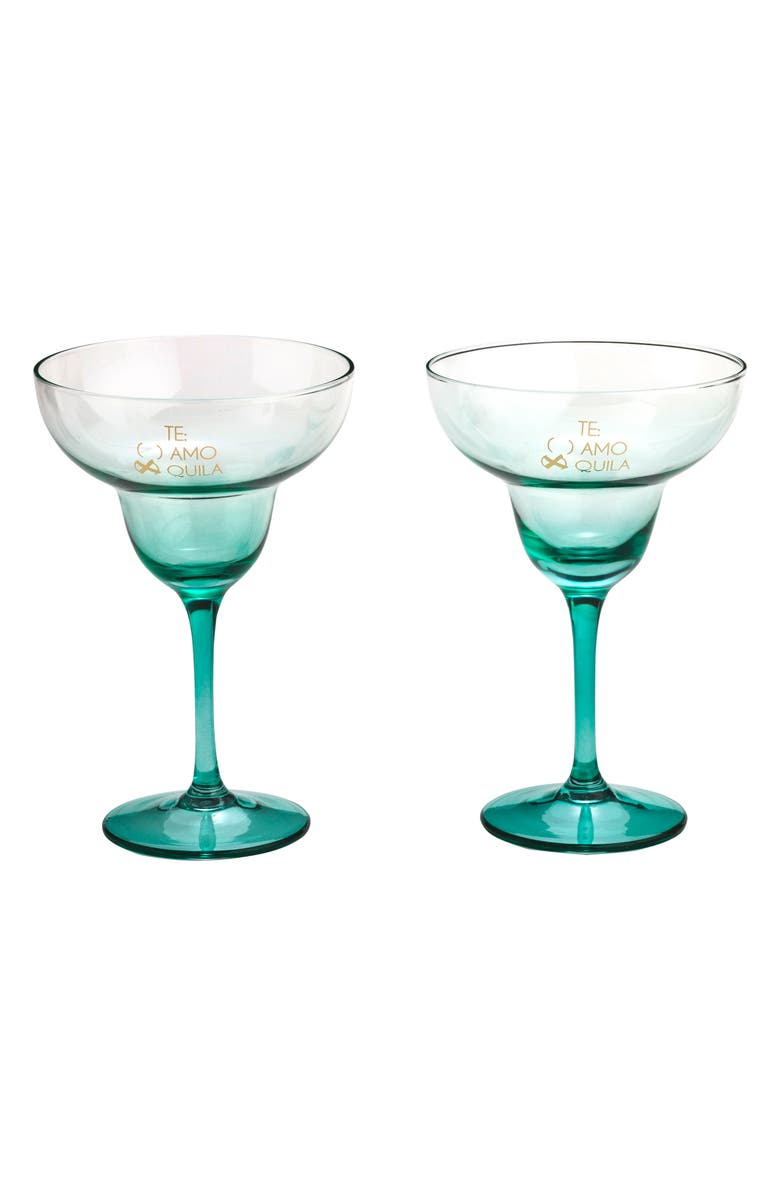 Te Amo x Quila Set of 2 Margarita Glasses | Nordstrom